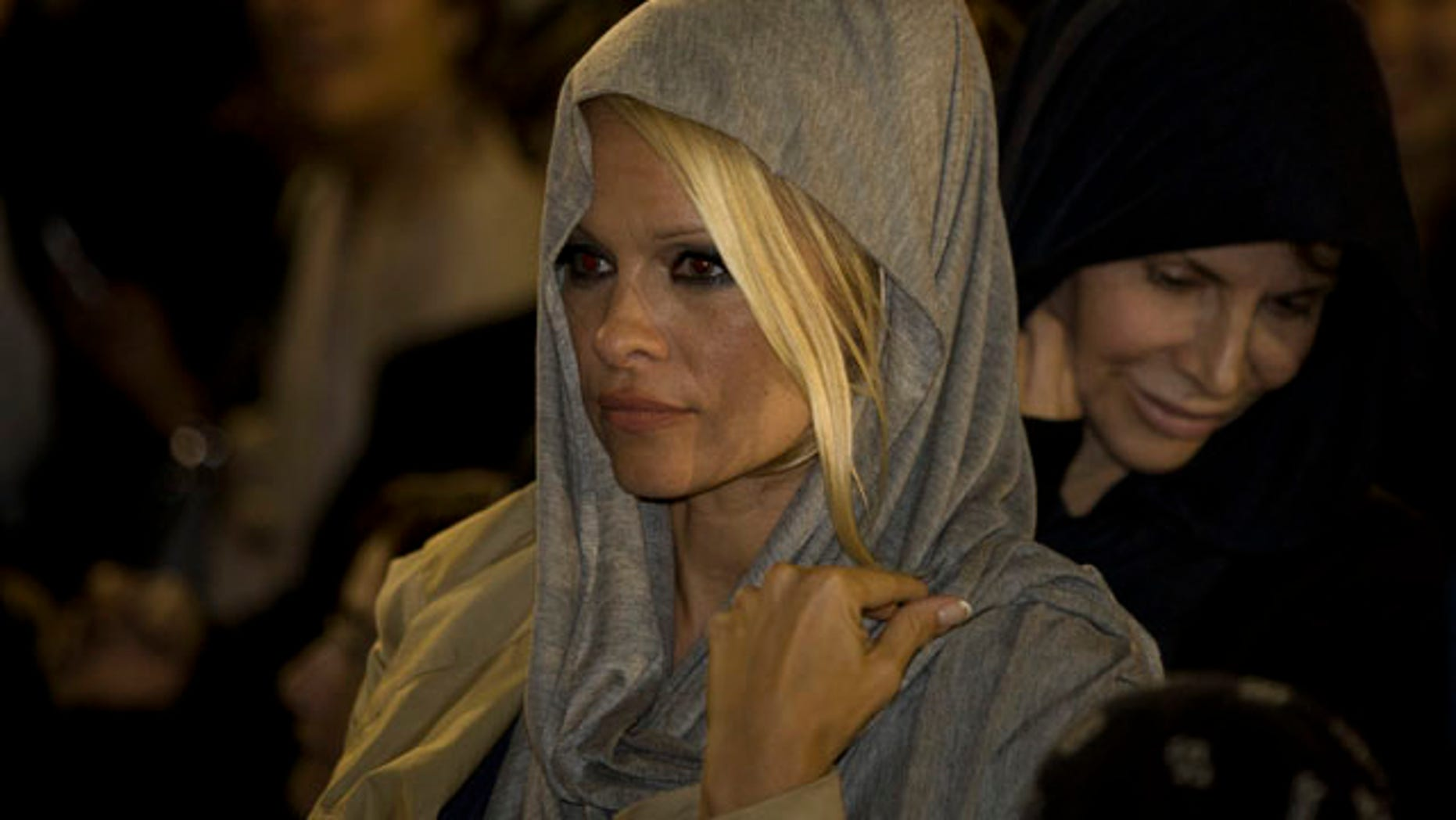 Nov. 7, 2010: U.S. actress Pamela Anderson is seen at the Western Wall, Judiasm's holiest site, in Jerusalem's Old City.