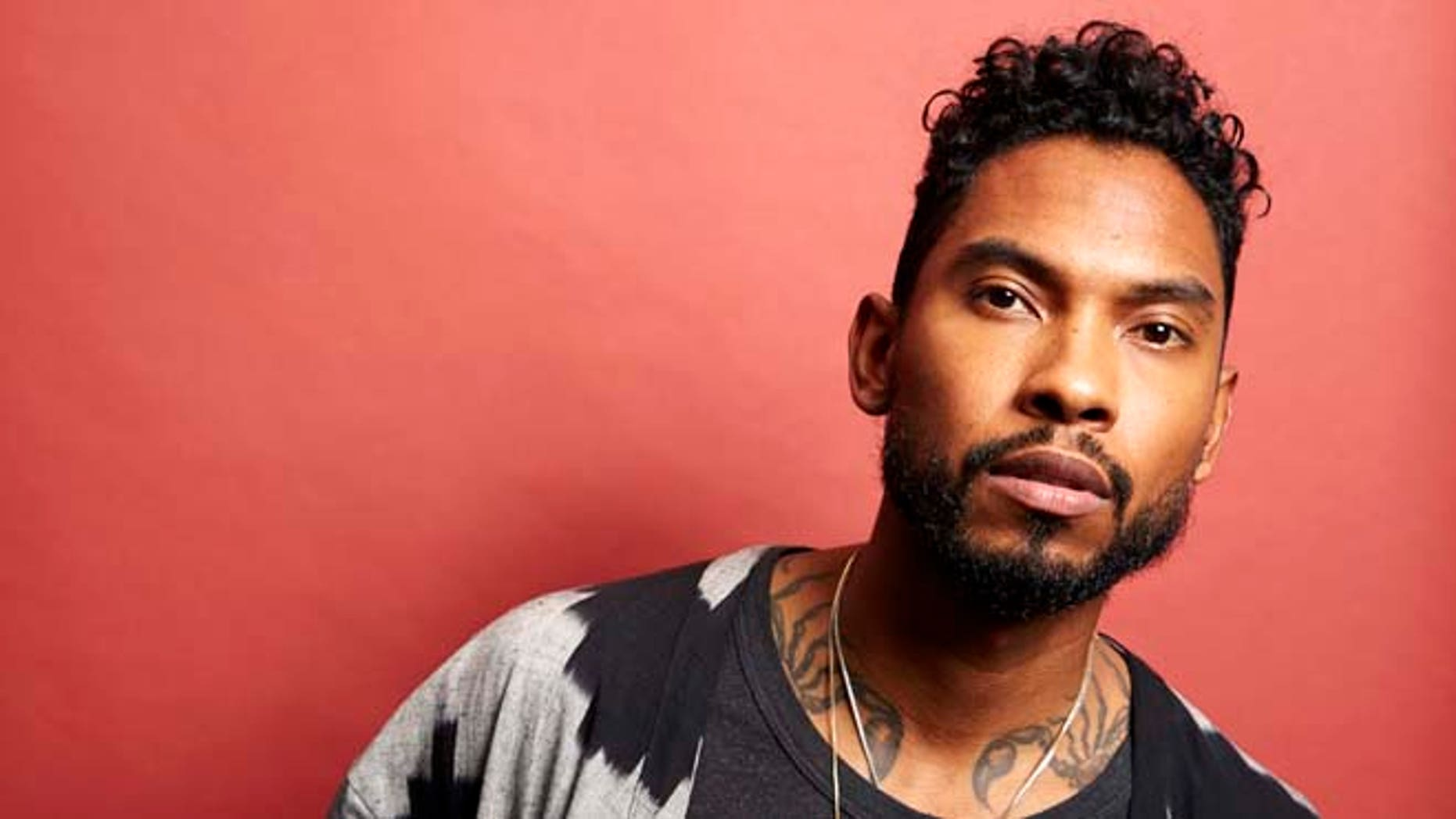 "Miguel poses for a portrait to his new album ""Wildheart"", in New York, on July 1, 2015."