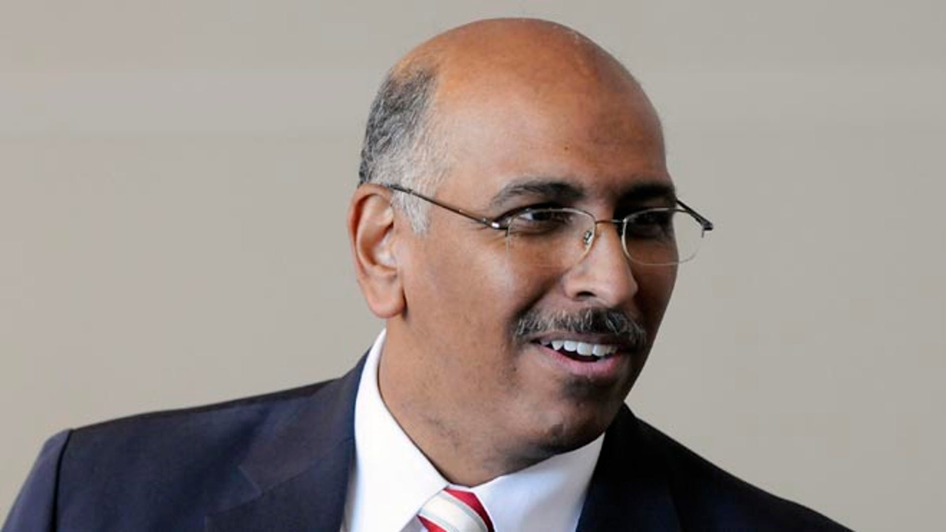 FILE: January 14, 2011: Then-Republican National Committee Chairman Michael Steele at the group's winter meeting in National Harbor, Md.