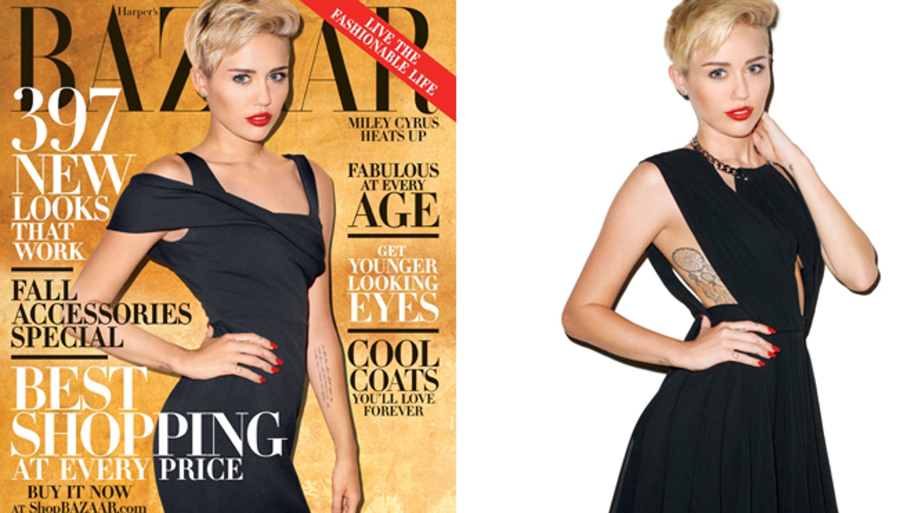 Miley Cyrus graces the cover of Harper's Bazaar, on newstands Sept. 24, 2013.