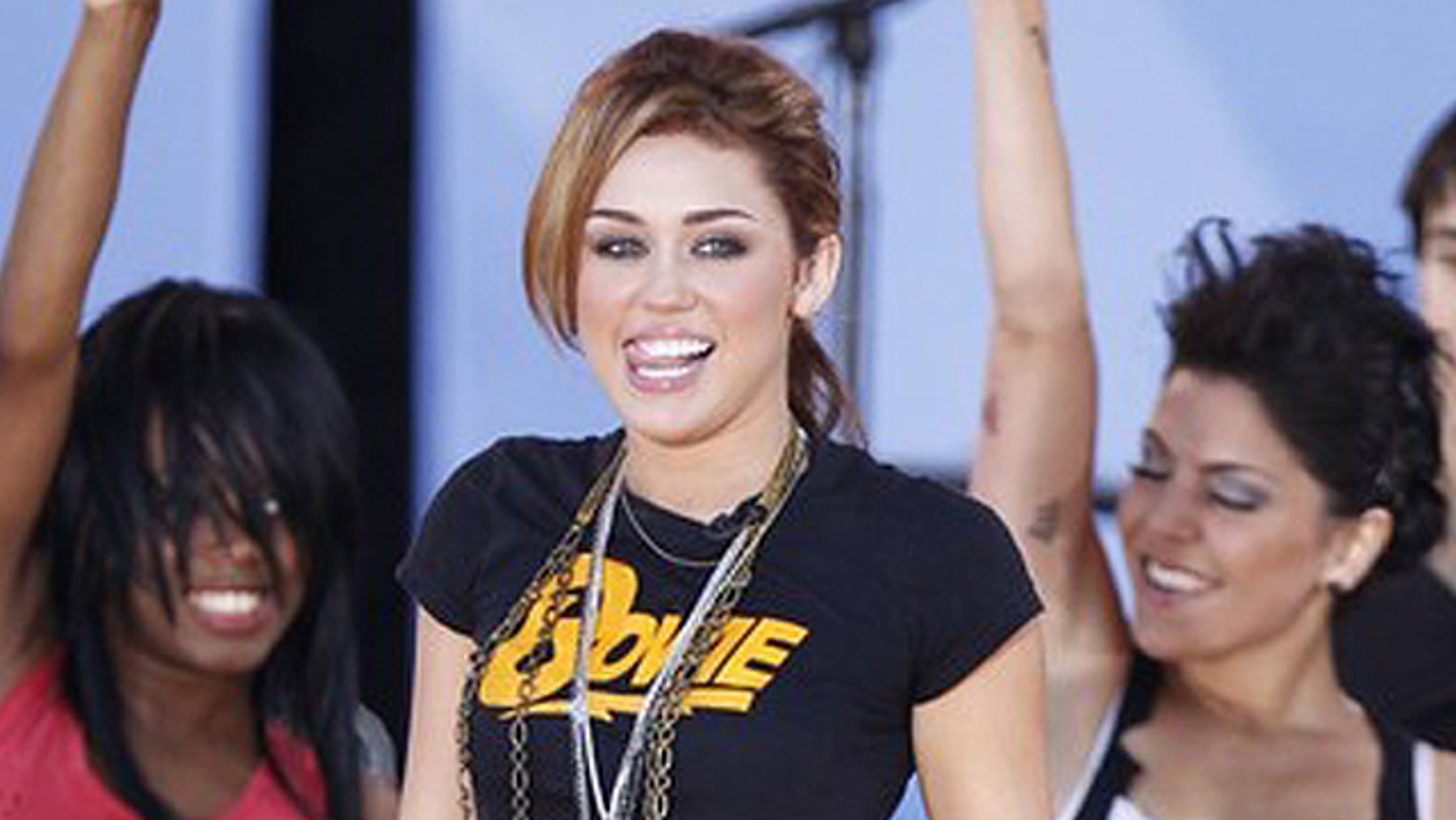 """June 18: Miley Cyrus performs for """"Good Morning America"""" in New York."""