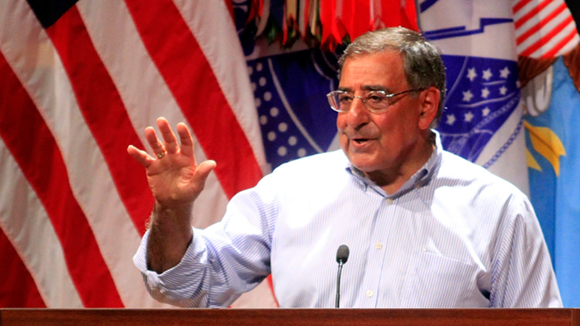 May 4, 2012: Defense Secretary Leon Panetta speaks to soldiers at Fort Benning, Ga.