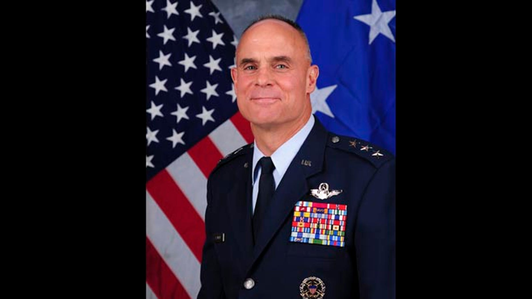 This undated file photo provided by the U.S. Air Force shows Lt. Gen. Craig Franklin, who overturned the sexual assault conviction of Lt. Col. James Wilkerson. The Air Forces decision to transfer Wilkerson to a Tucson military base has outraged the family of Kimberly Hanks, the woman who made the allegations, adding to the growing criticism of the military justice system.