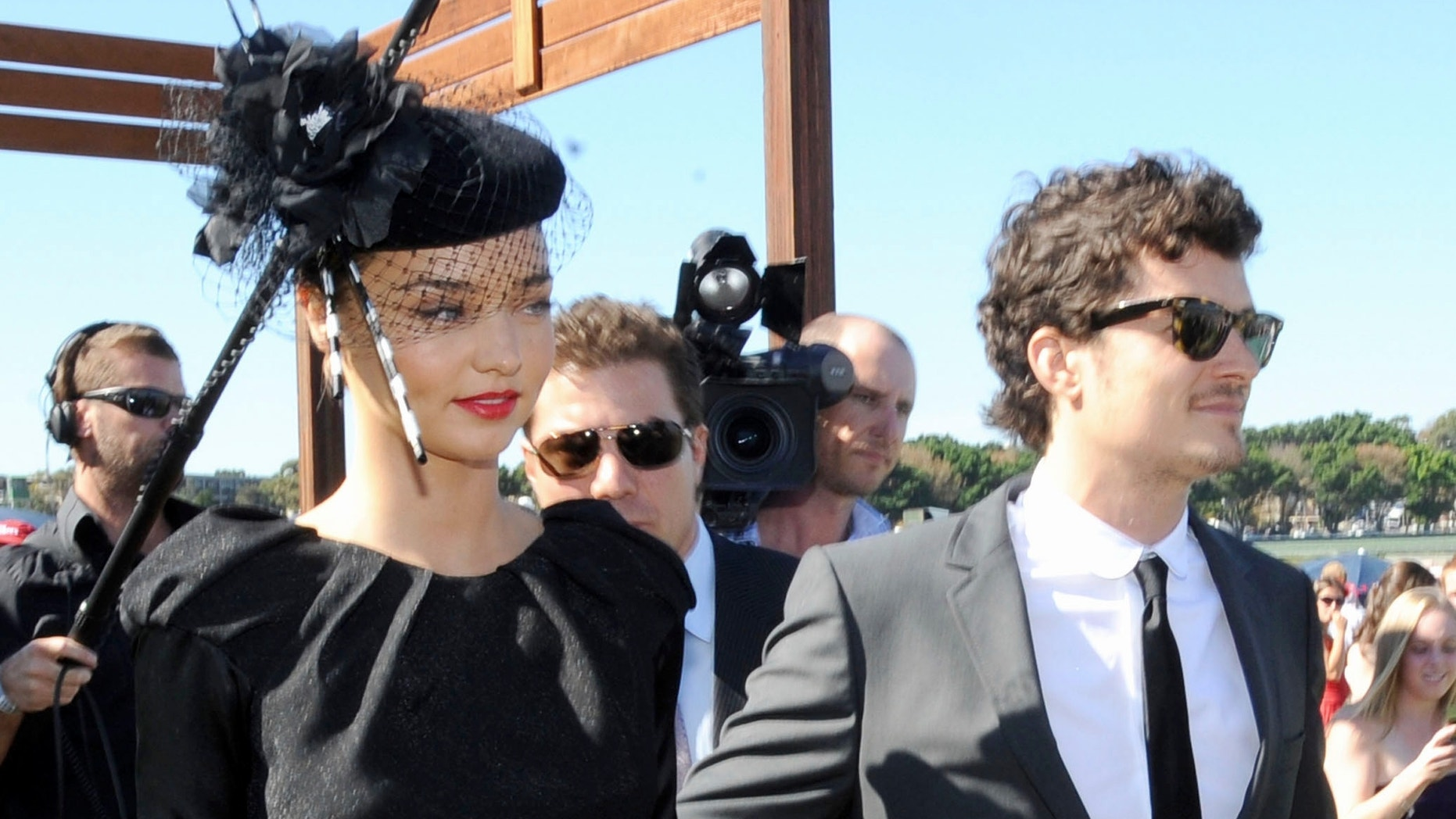 April 26, 2008: Actor Orlando Bloom and his then-girlfriend, Australian actress and top model Miranda Kerr, arrive for Doncaster Day at the Royal Randwick Racecourse in Sydney. The pair were recently wed in a ceremony from which most of Miranda's family was excluded.