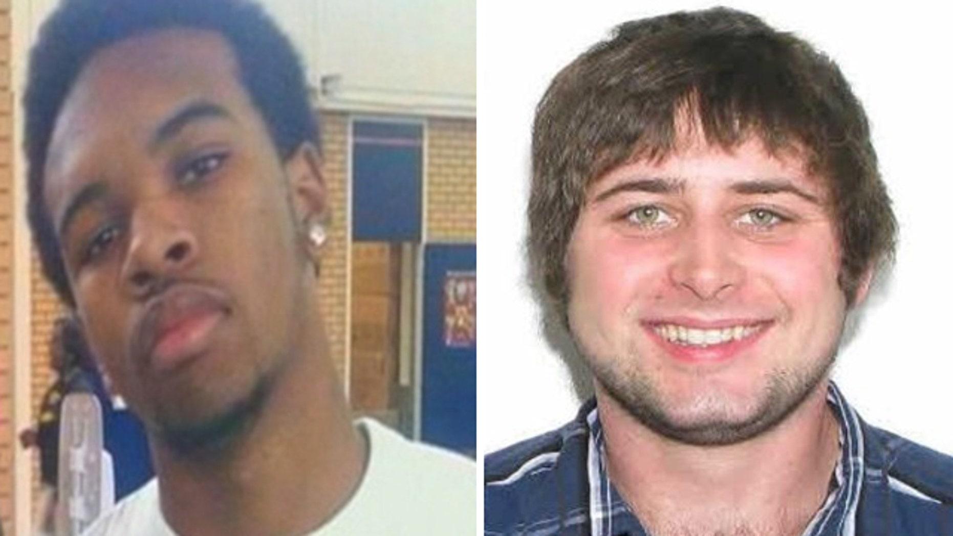 Mar. 25, 2012: This photo shows Jackson State University student Nolan Ryan Henderson III, left, and Mississippi State University student John Sanderson.