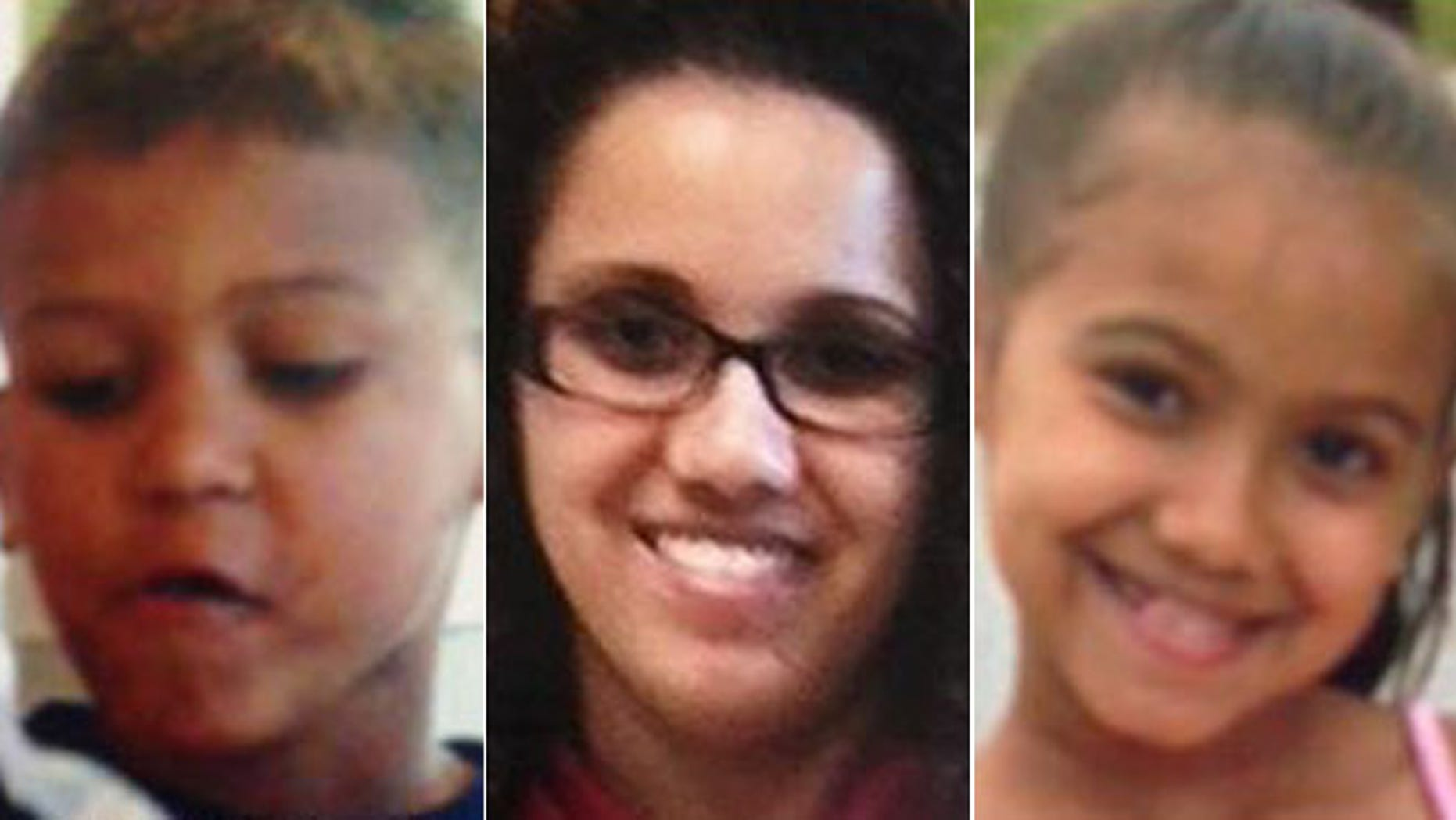 These undated photos show Michael Otto, 8, Yessenia Suarez, 28, and Thalia Otto, 9, who were reported missing after family members requested a well-being check on Wednesday.