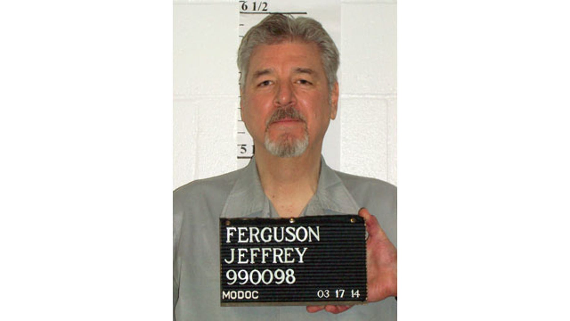 March 17, 2014: This photo provided by the Missouri Department of Corrections shows Jeffrey Ferguson, who was executed early Wednesday for killing a 17-year-old St. Charles County girl in 1989. (AP Photo/Missouri Department of Corrections)