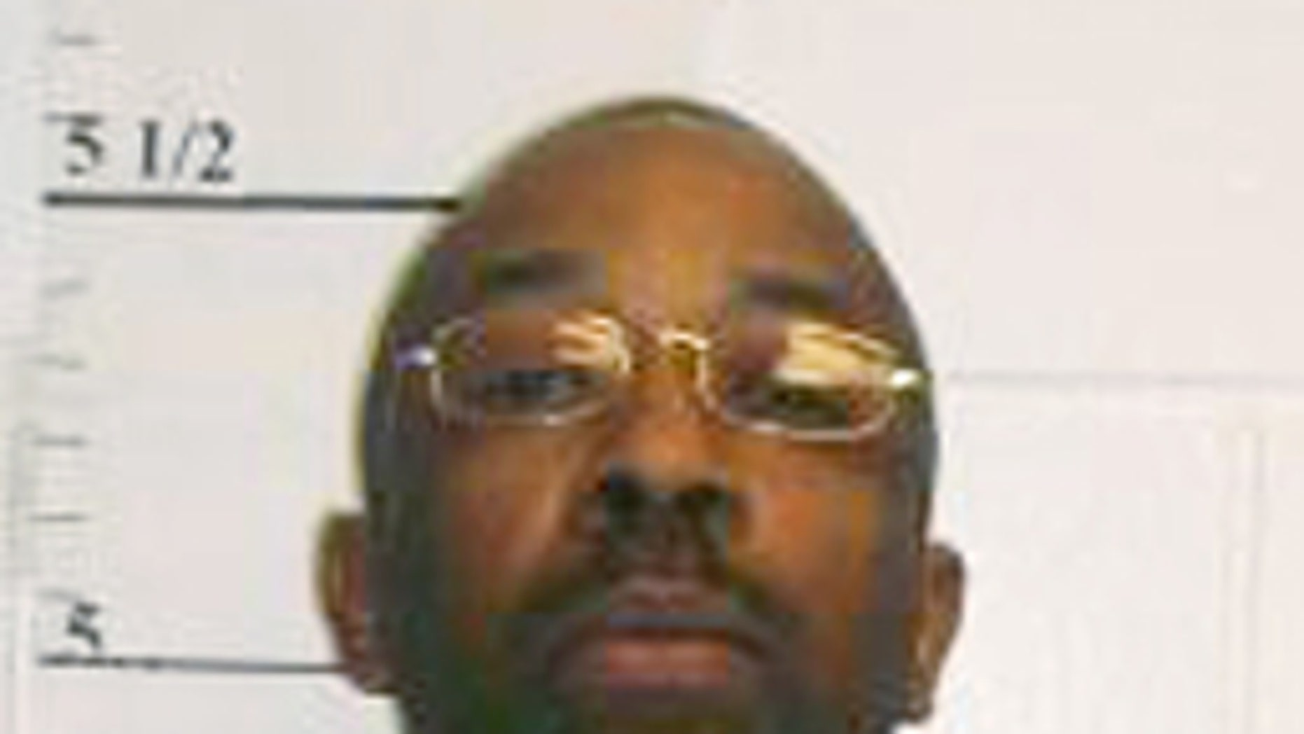April 22, 2014: This photo provided by the Missouri Department of Corrections shows Roderick Nunley, who was executed Tuesday for raping and killing 15-year-old Ann Harrison in Kansas City in 1989. (Missouri Department of Corrections via AP)