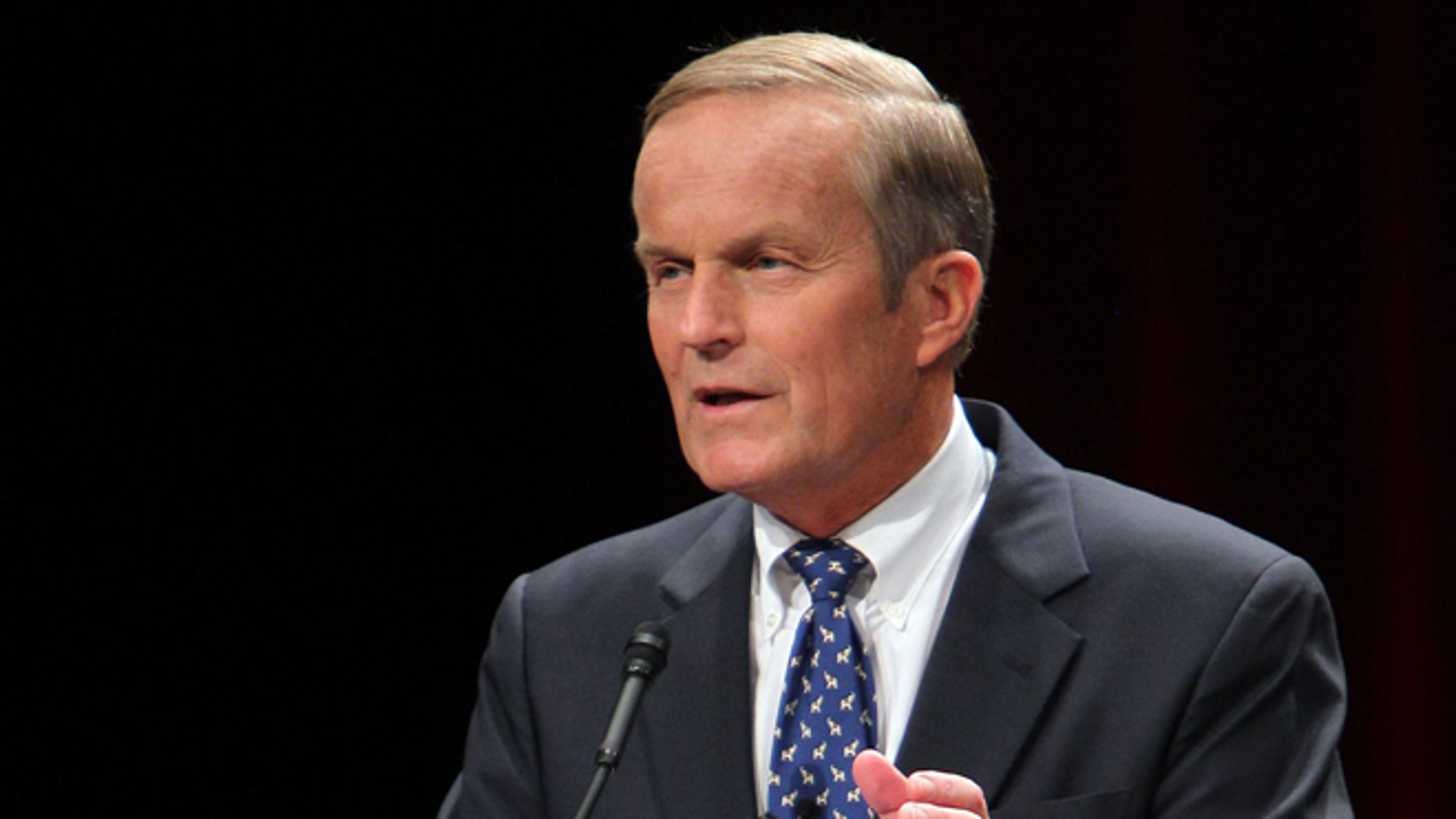 June 11, 2011: In this file photo , U.S. Representative Todd Akin answers a question from the panel during a debate among Republican Senate candidate hopefuls at the Lindenwood University J. Scheidegger Center's Bezemes Family Theater in St. Charles, Mo.
