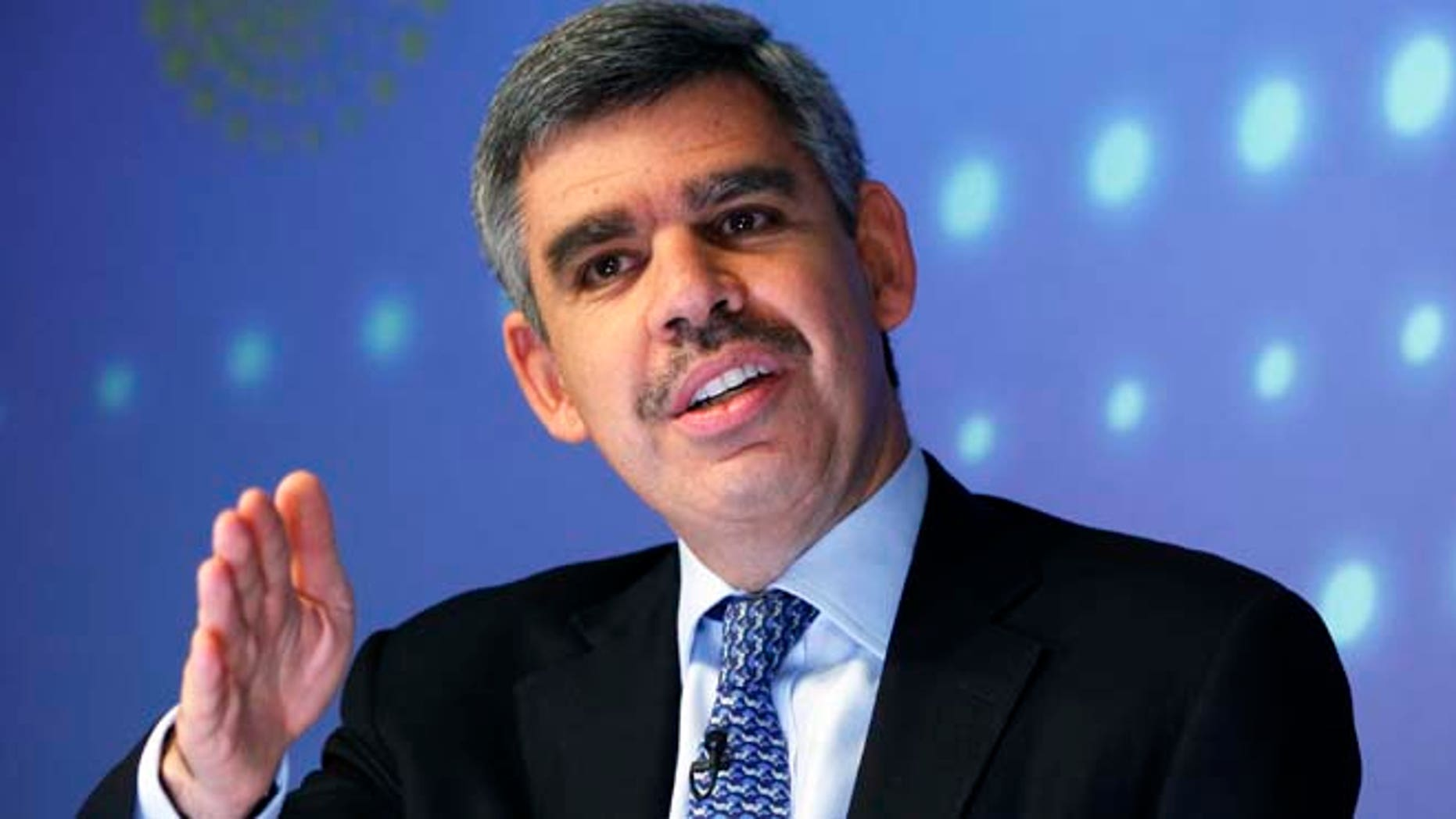 Former PIMCO Chief Executive Officer and Co-Chief Investment Officer Mohamed El-Erian speaks during an interview at Thomson Reuters.