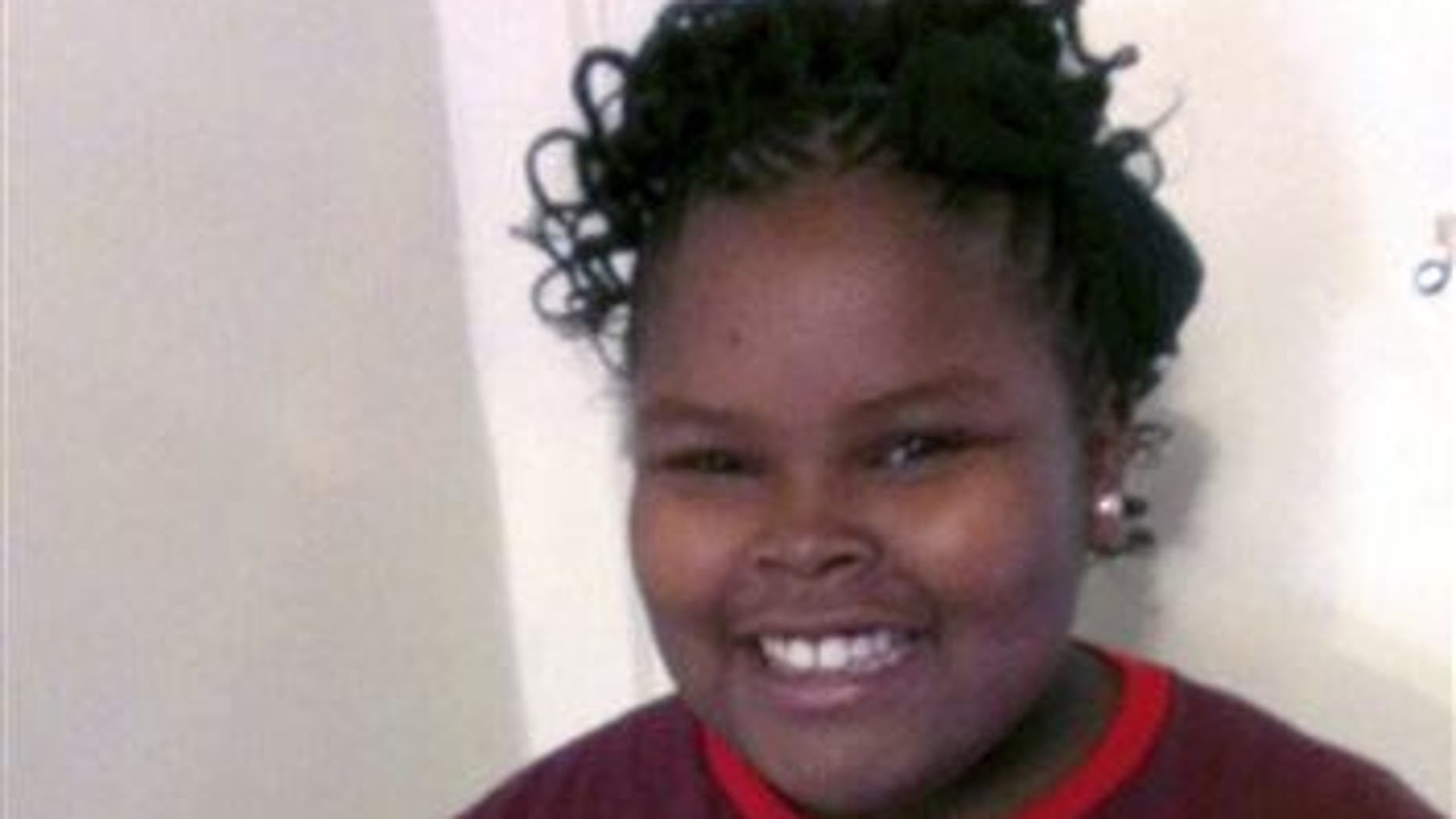 This undated file photo provided by the McMath family and Omari Sealey shows Jahi McMath.