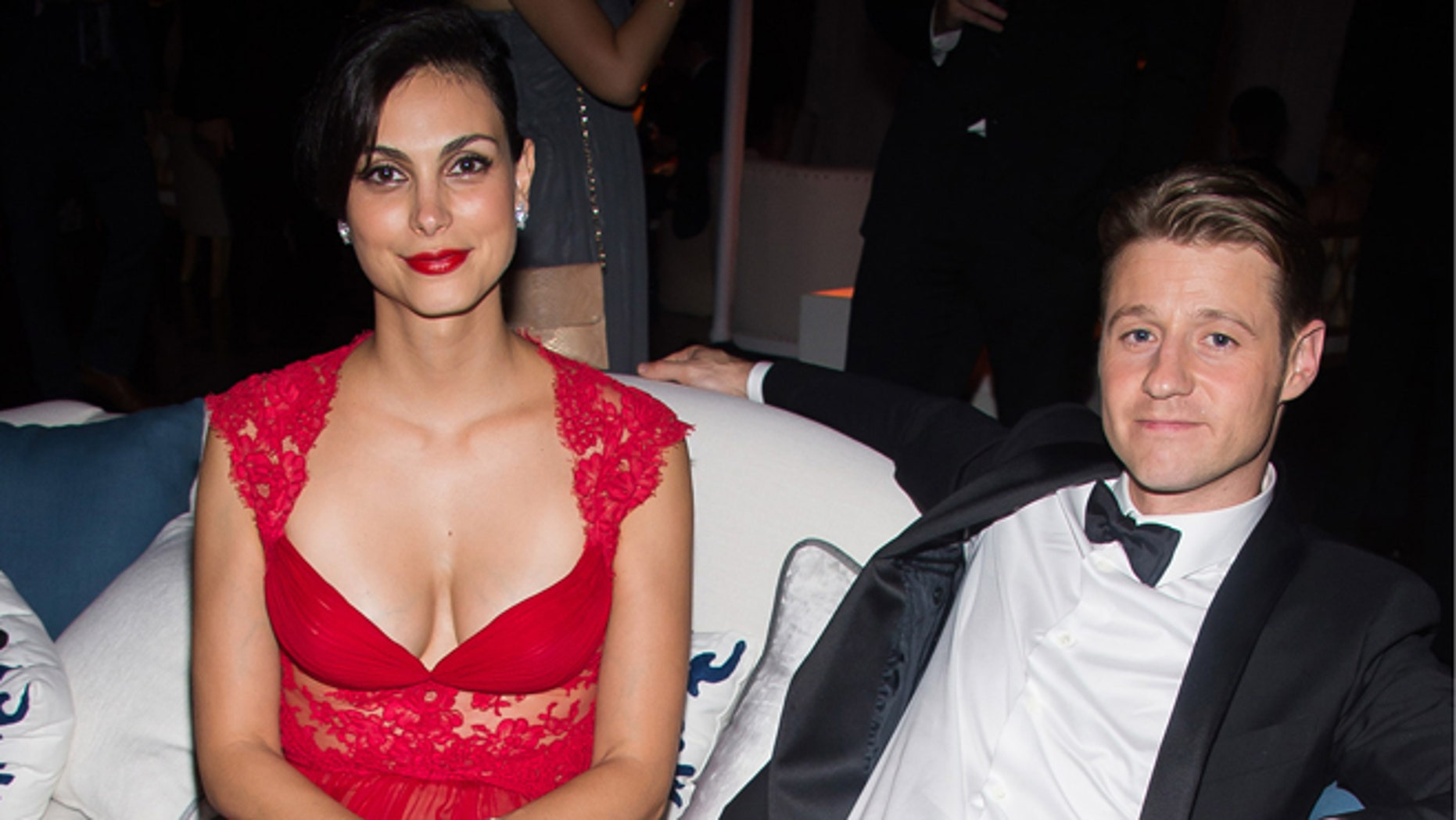 Morena Baccarin and Benjamin McKenzie on Sunday, Sept. 20, 2015 in Los Angeles.