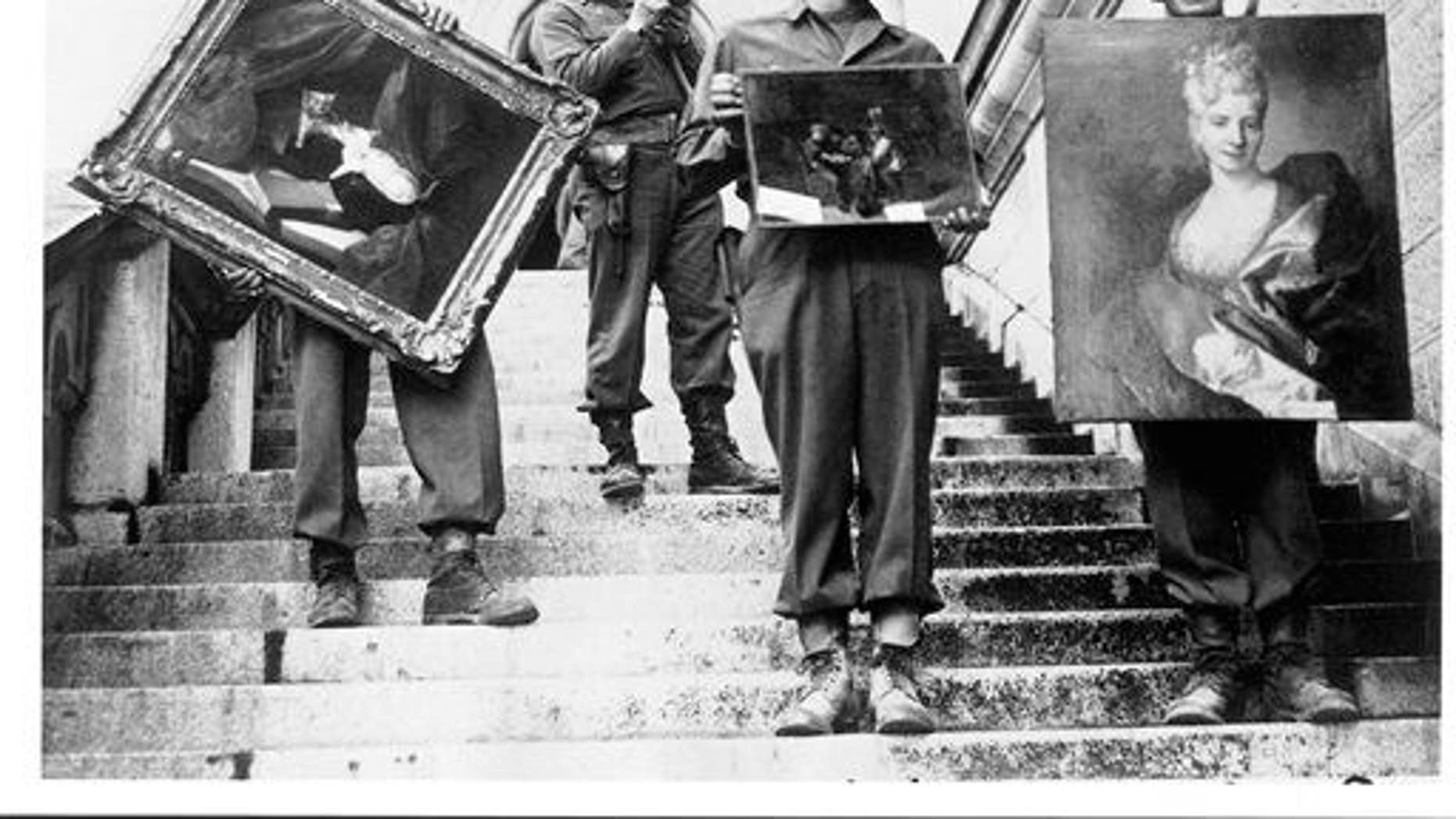 The Monuments Men recover paintings from Neuschwanstein castle in Germany in May 1945.