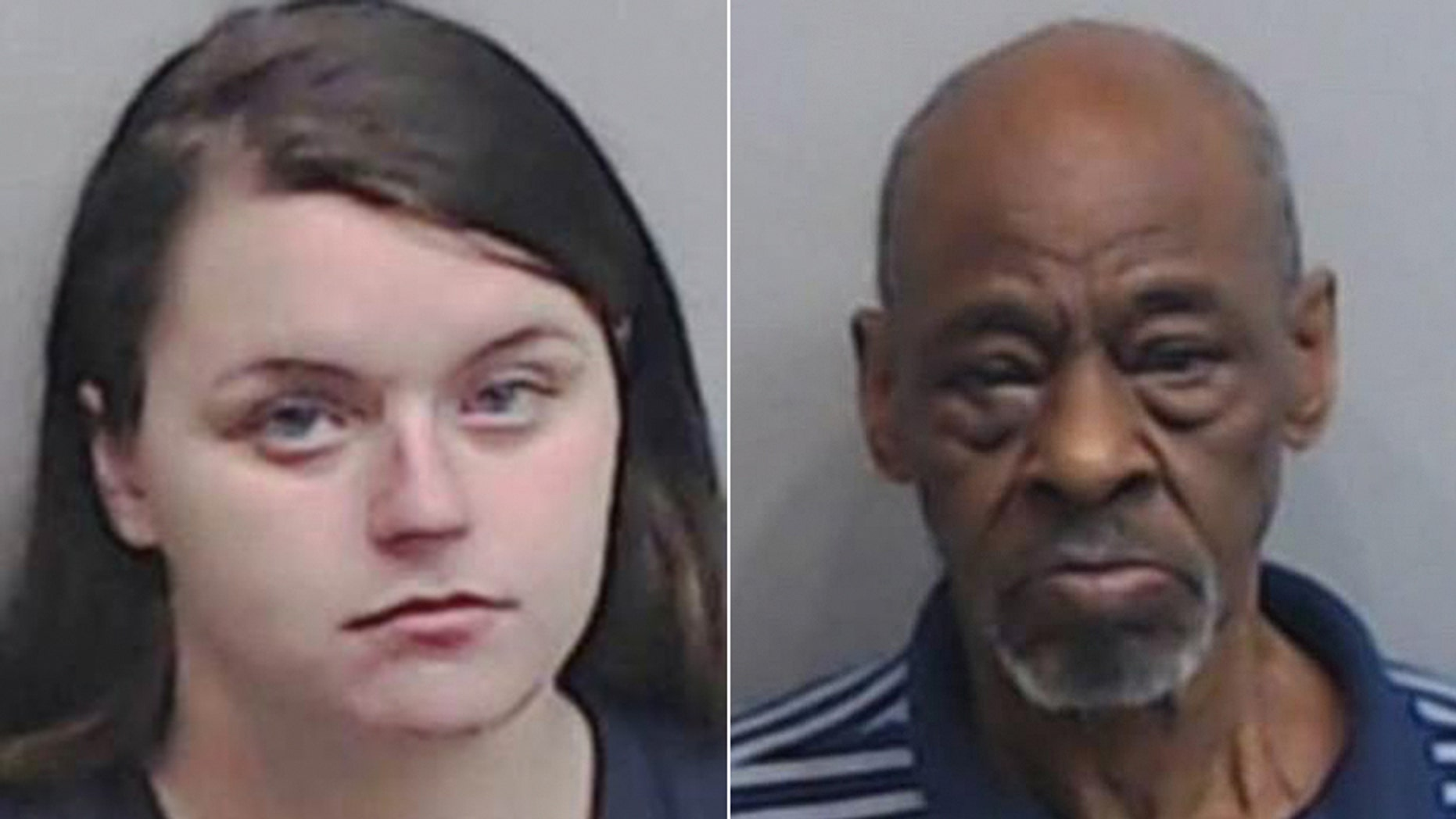 """Morgan Summerlin (left) admitted to bringing her young daughters to the homes of men to be raped in exchange for cash, including that of Richard """"Pop"""" Office (right)."""