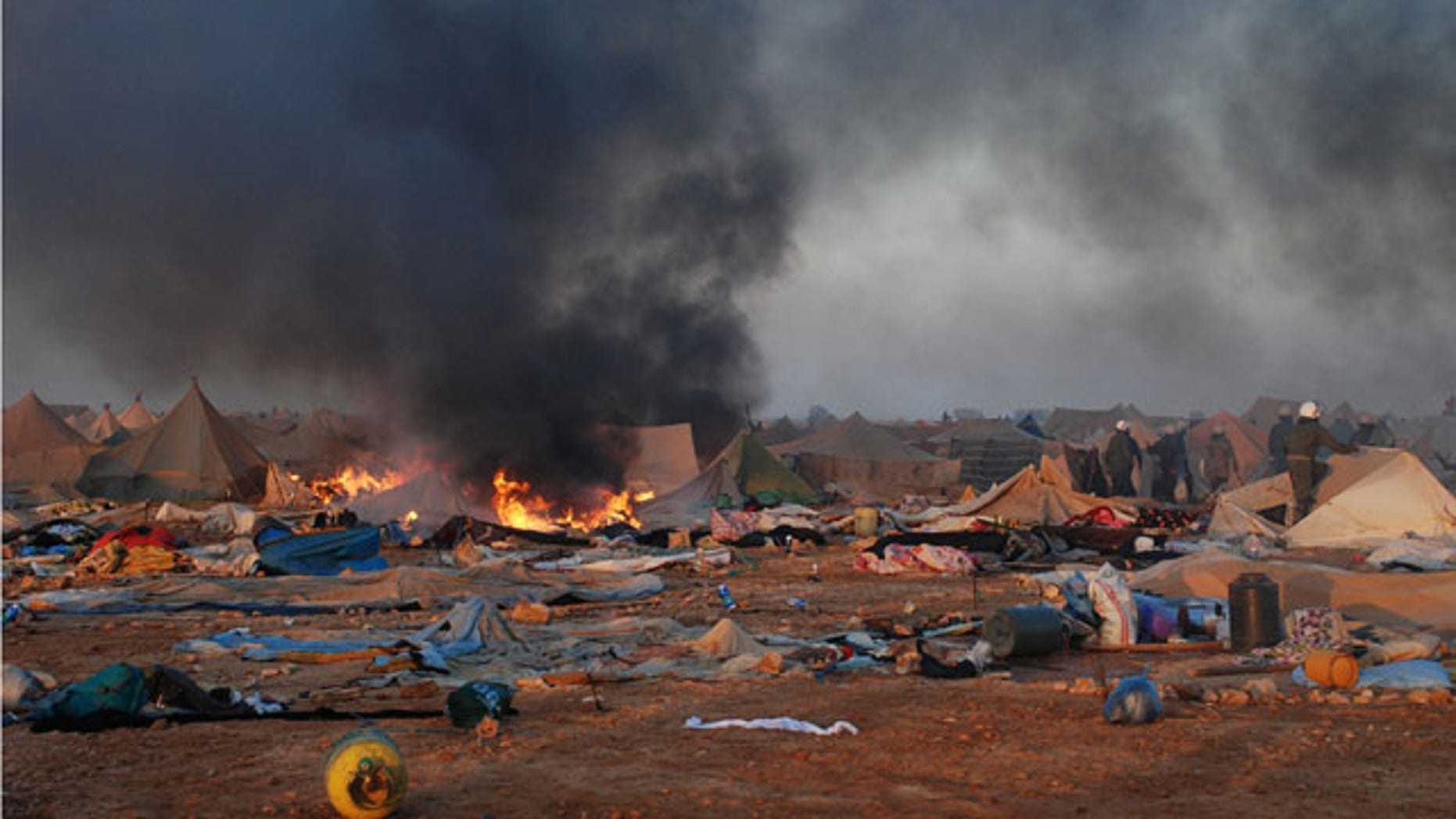 Nov. 8: Moroccan forces dismantle a camp housing thousands of refugees in the Western Sahara, near Laayoune. At least three Moroccan security officials were killed and 70 injured in a raid on a protest camp in the disputed territory of Western Sahara.
