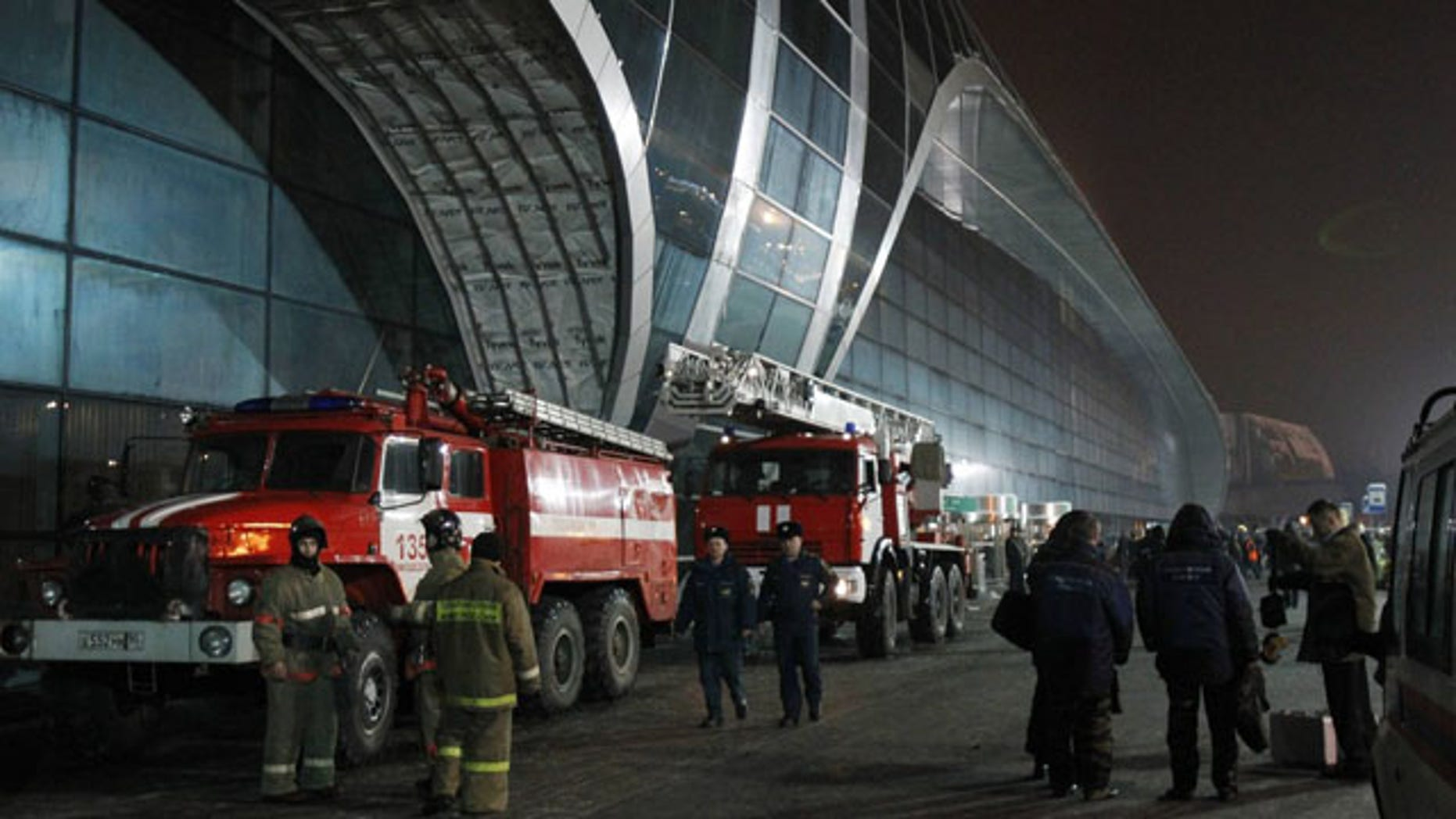 Jan. 24: Firefighters work outside Moscow's Domodedovo airport. A suicide bomber killed at least 31 people and injured 180.