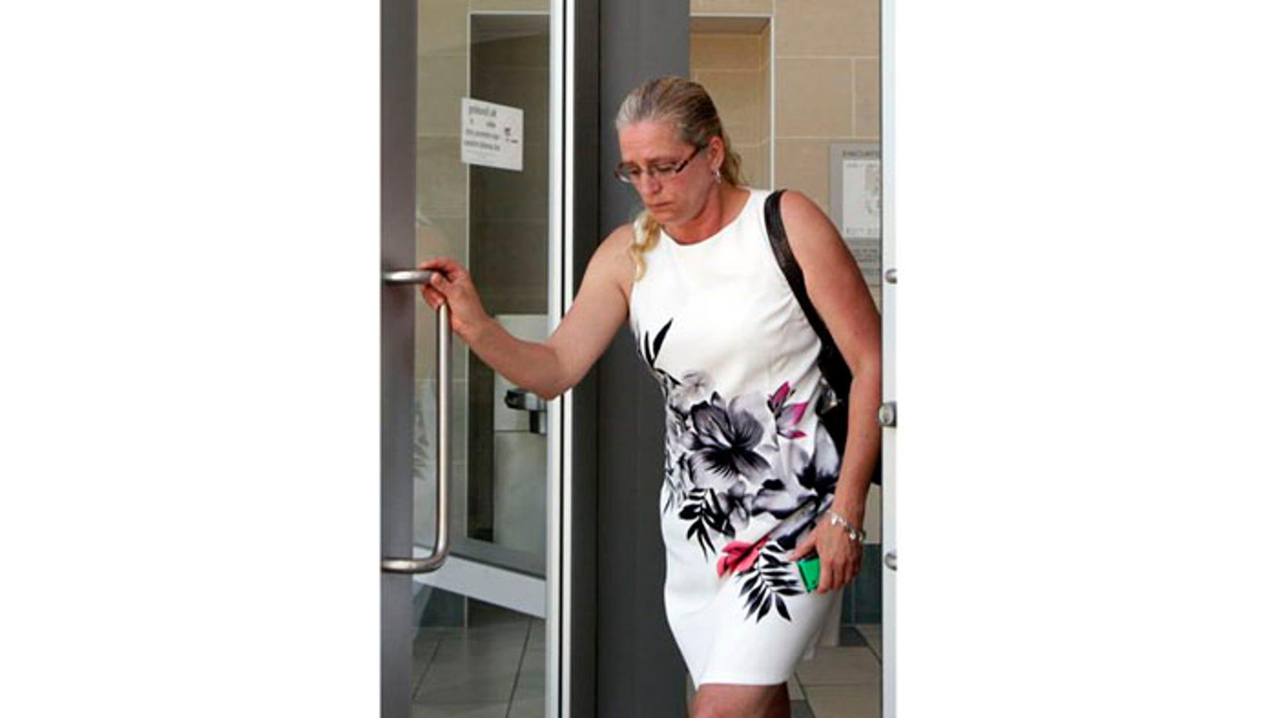 July 5: Kendra McInerney mother of murder defendant, Brandon McInerney, leaving court in Chatsworth, CA.