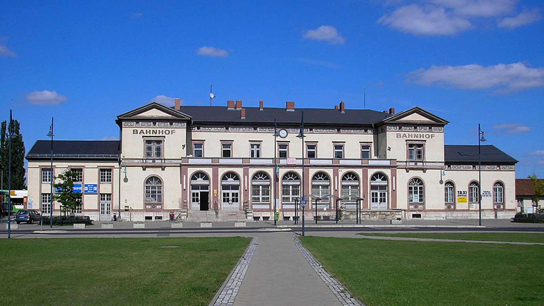 The woman said three men lured her to the Muhlhausen train station in Germany and repeatedly raped her last August.
