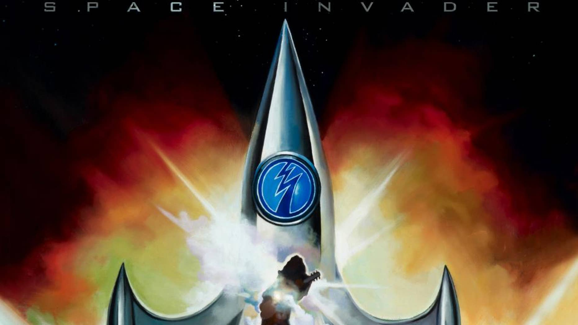 """This CD cover image released by eOne shows """"Space Invader,"""" by Ace Frehley. (AP Photo/eOne)"""