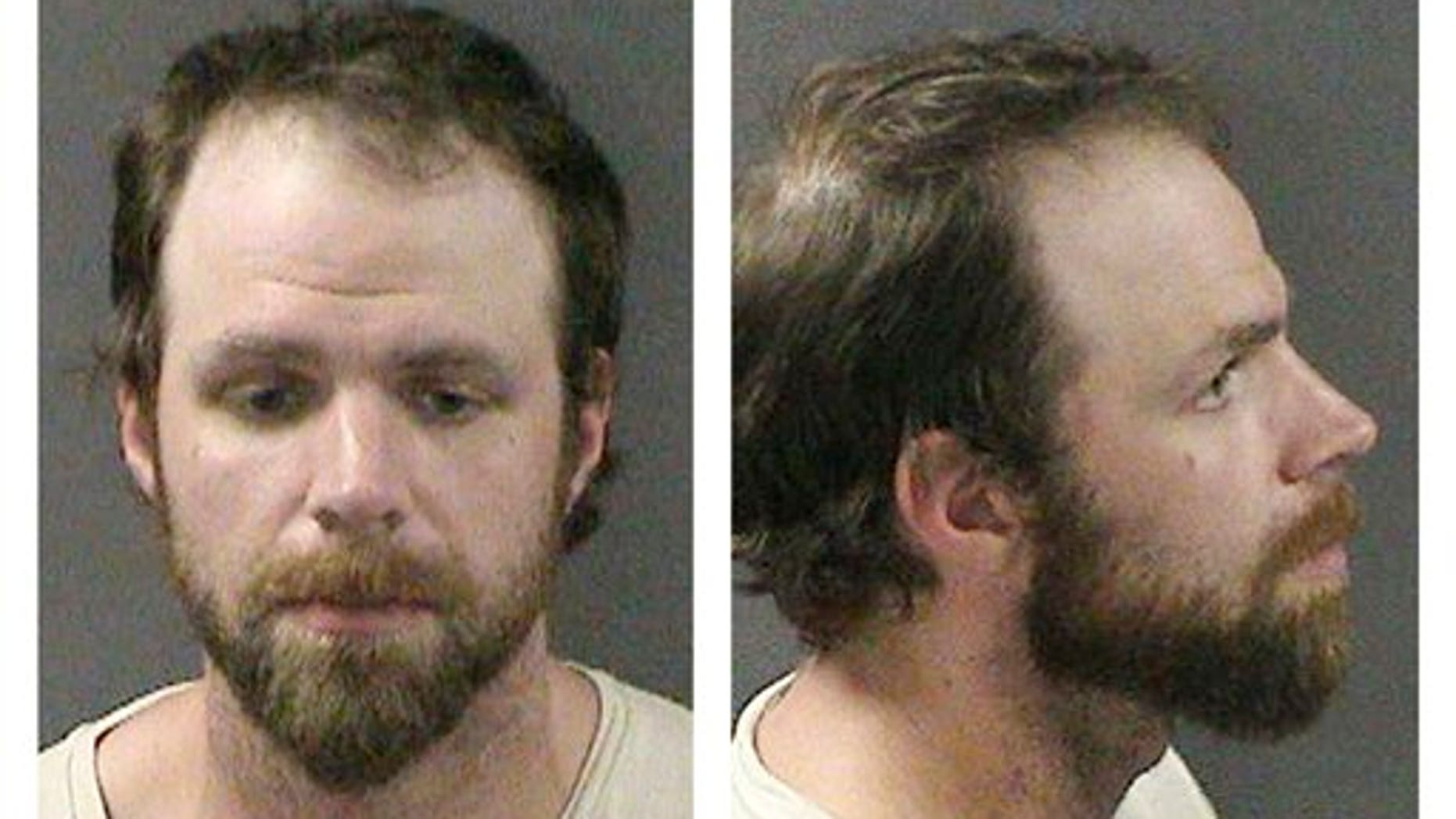 These Sunday, July 10, 2011 booking photos released by the Attleboro, Mass., Police Department shows Michael Todd, bass player for the rock band Coheed and Cambria. Alttleboro police arrested Todd, of Anaheim, Calif., Sunday and charged him with robbing a pharmacy of prescription painkillers just hours before a show. (AP)