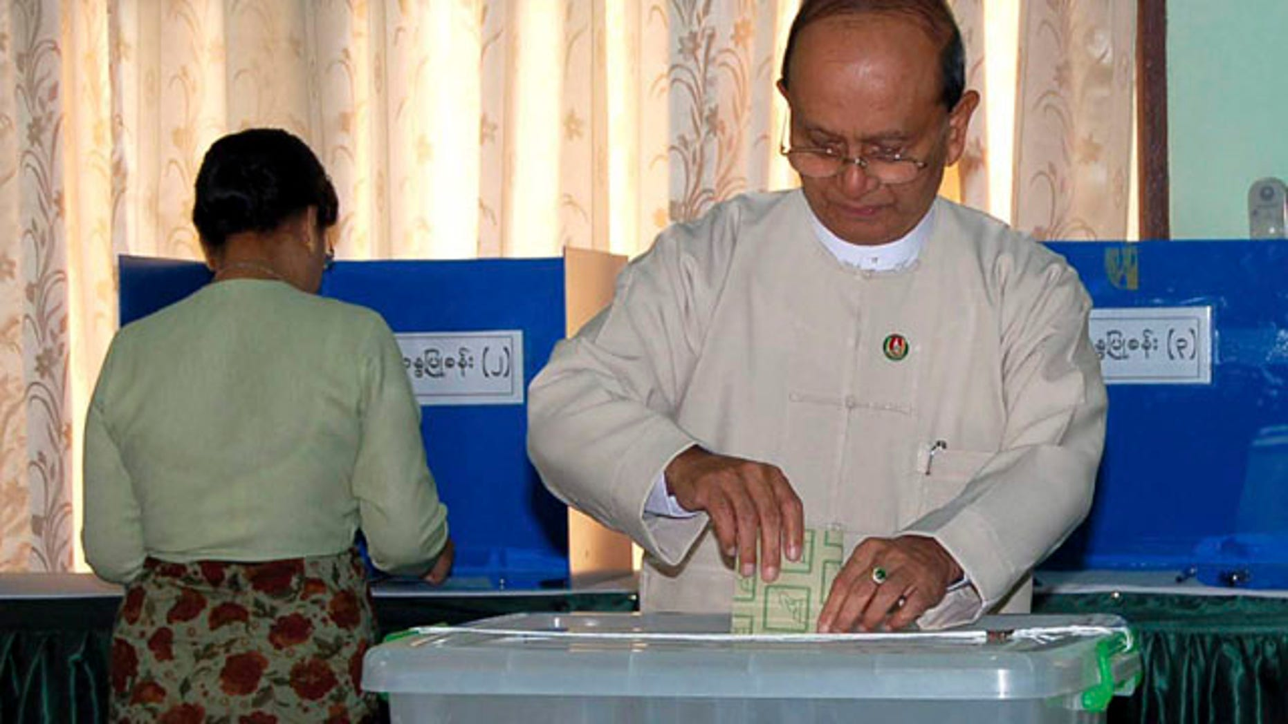 Nov. 7: Myanmar's Prime Minister Thein Sein casts his ballot for the elections in Naypyitaw, Myanmar's administrative capital.