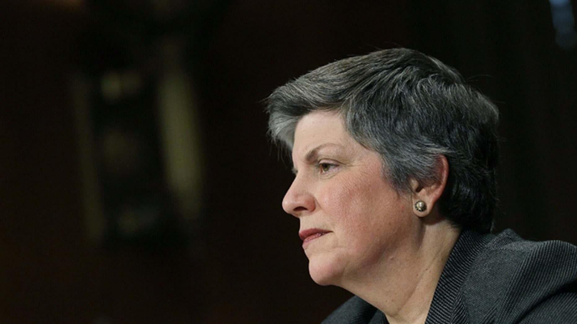 April 25, 2012: Homeland Security Secretary Janet Napolitano participates in a Senate Judiciary Committee hearing, in Washington, D.C.