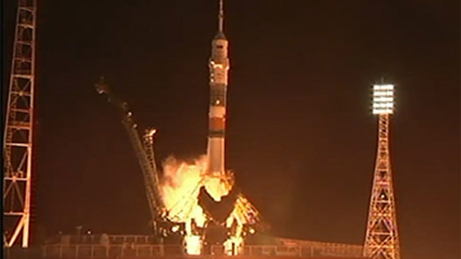 March 28, 2013: A Russian Soyuz rocket blasts off from the Central Asian spaceport of Baikonur Cosmodrome in Kazakhstan carrying a new crew to the International Space Station.