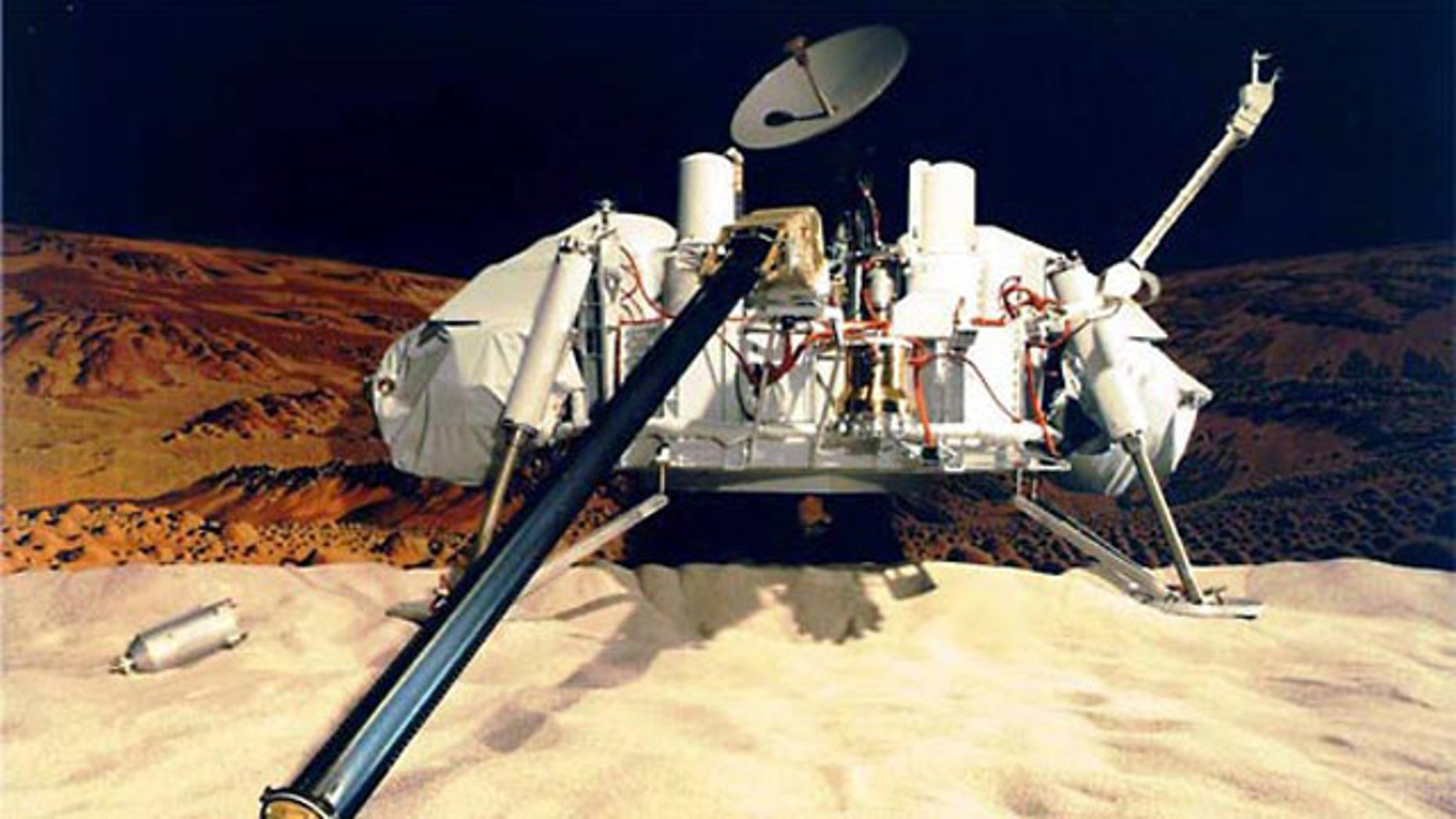 NASA's Viking landers carried four instruments designed to search for signs of Martian life: a gas chromatograph/mass spectrometer, as well as experiments for gas exchange, labeled release and pyrolytic release. It may have been successful.