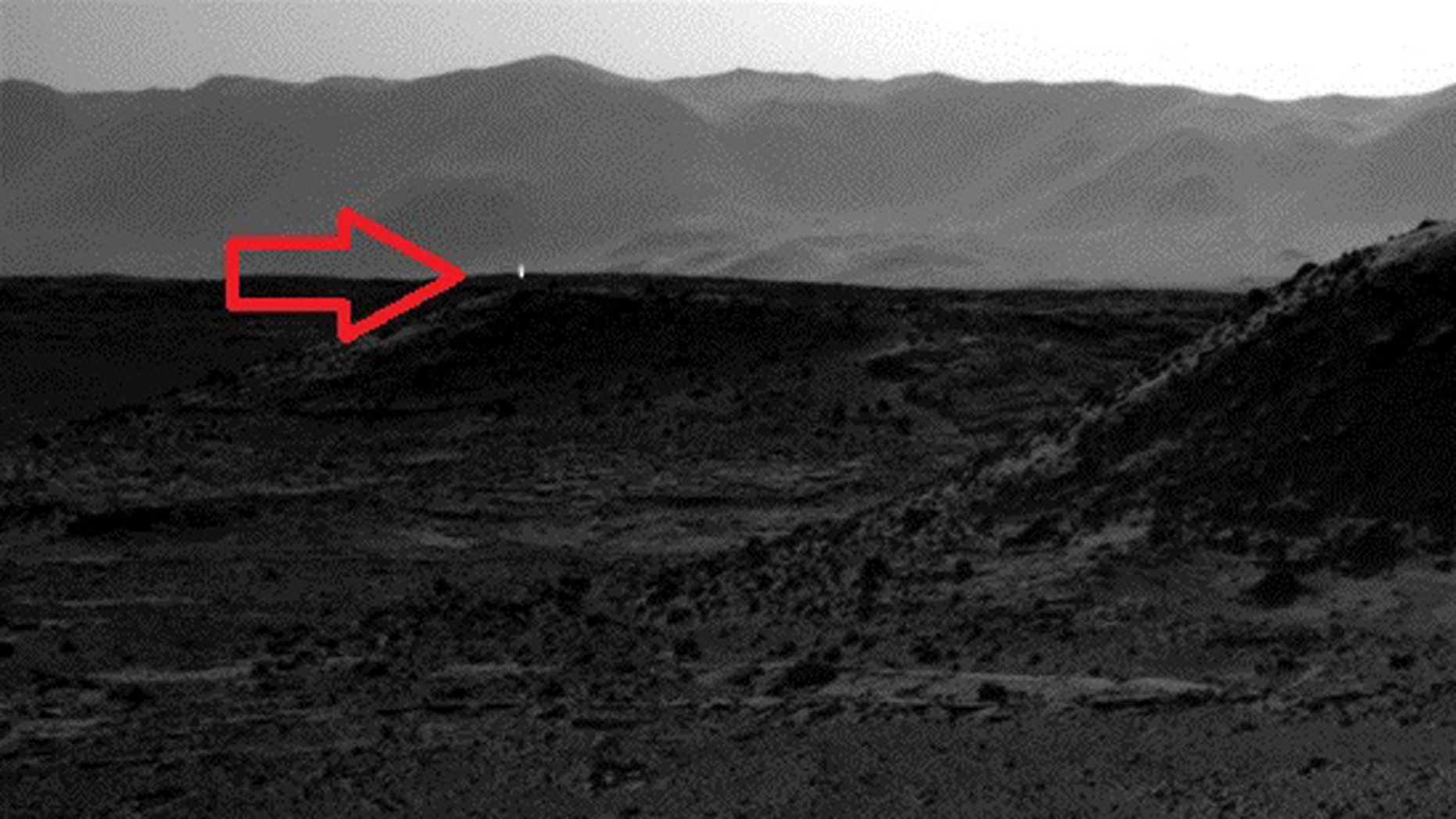 This image was taken by NASA's Mars rover Curiosity's Navcam on April 3.