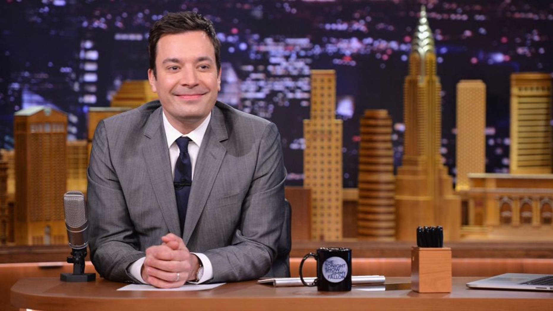 "NEW YORK, NY - FEBRUARY 26: Jimmy Fallon hosts ""The Tonight Show Starring Jimmy Fallon"" at Rockefeller Center on February 26, 2014 in New York City. (Photo by Mike Coppola/Getty Images for The Tonight Show Starring Jimmy Fallon)"