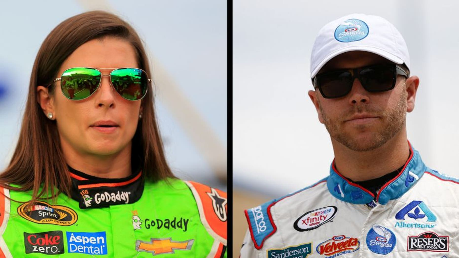 SPARTA, KY - JULY 11: Danica Patrick, driver of the #10 GoDaddy Chevrolet, takes part in pre-race ceremonies for the NASCAR Sprint Cup Series Quaker State 400 presented by Advance Auto Parts at Kentucky Speedway on July 11, 2015 in Sparta, Kentucky. (Photo by Daniel Shirey/Getty Images)
