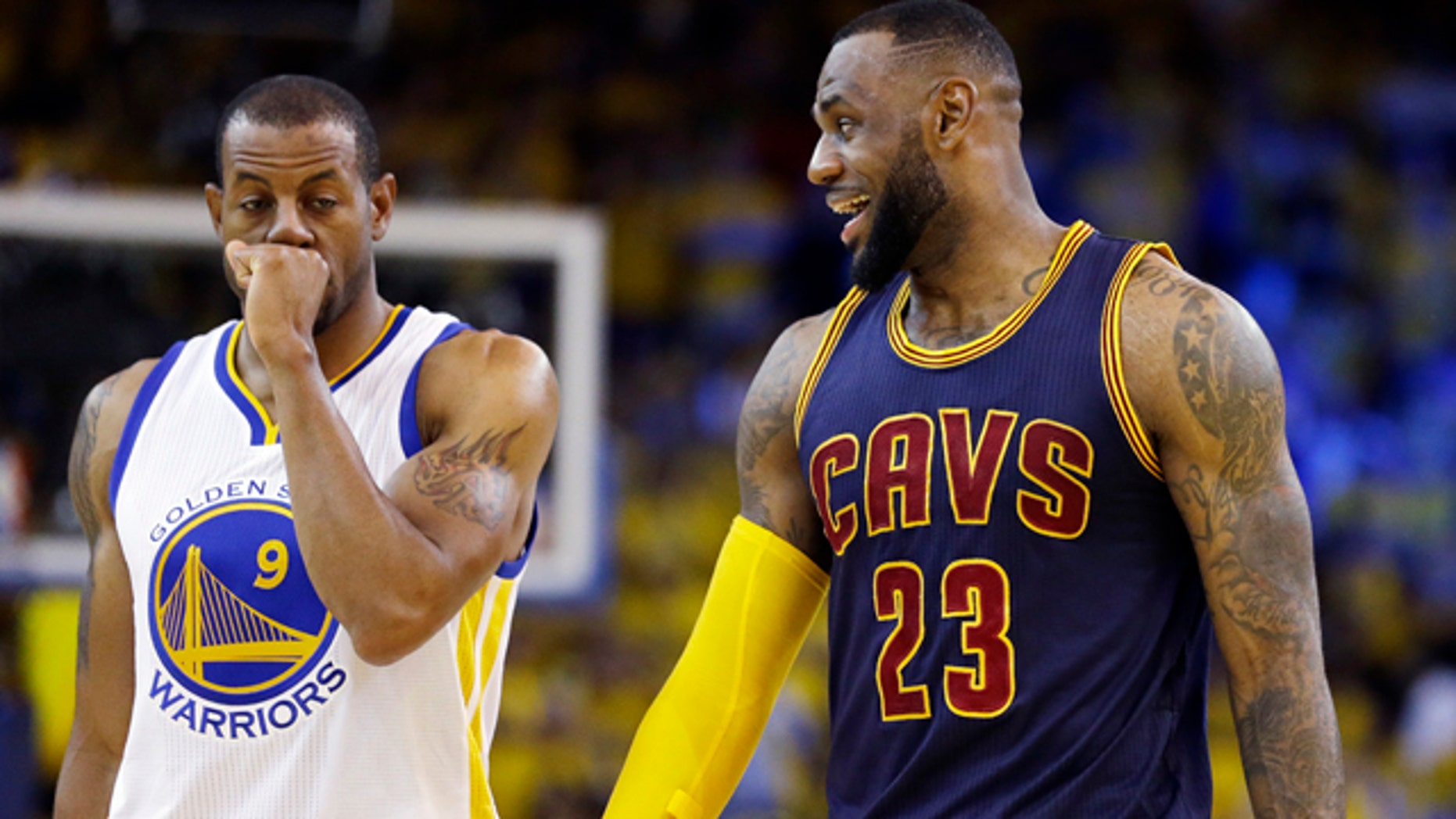 02ba3855db15 LeBron James triple-double leads shorthanded Cavs past Warriors in ...