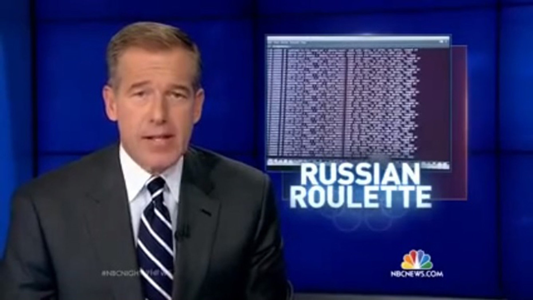 NBC News anchor Brian Williams introduces a report that cell phones and laptops taken to the Sochi Olympics in Russia can be hacked almost as soon as they are turned on.
