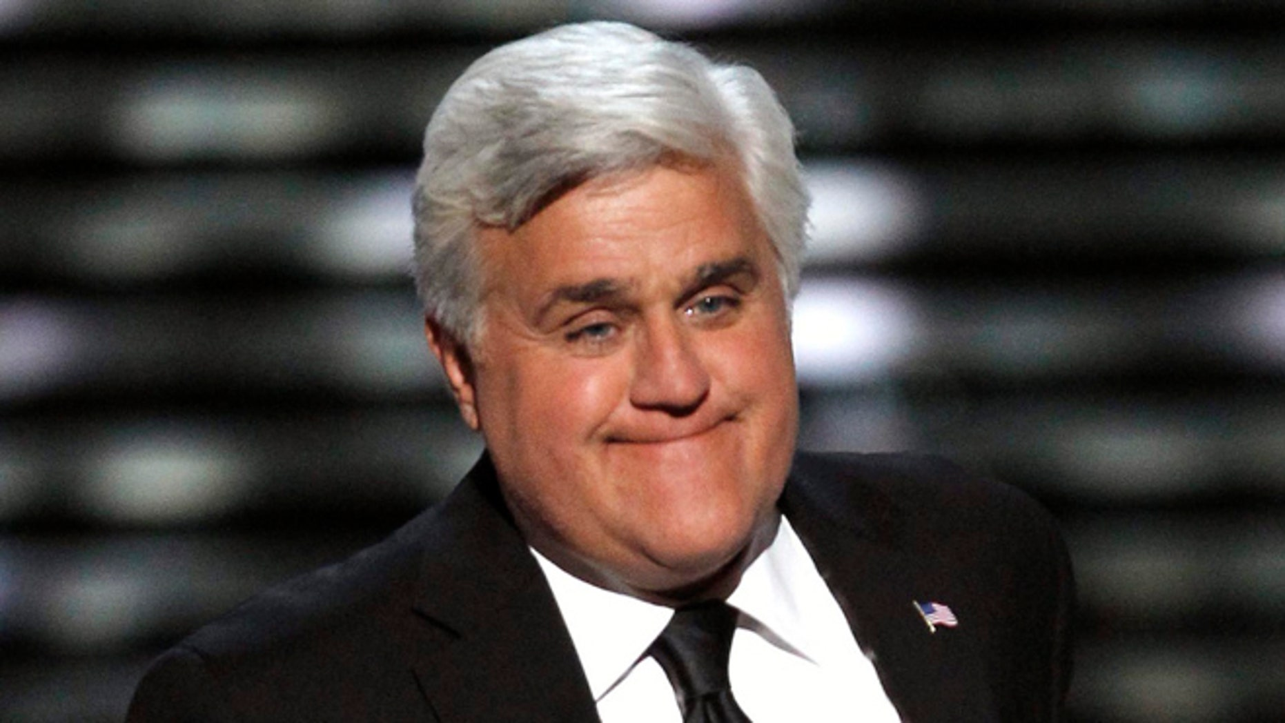 July 13, 2011: In this file photo, Jay Leno presents the Jimmy V Award for Perseverance at the ESPY Awards in Los Angeles.