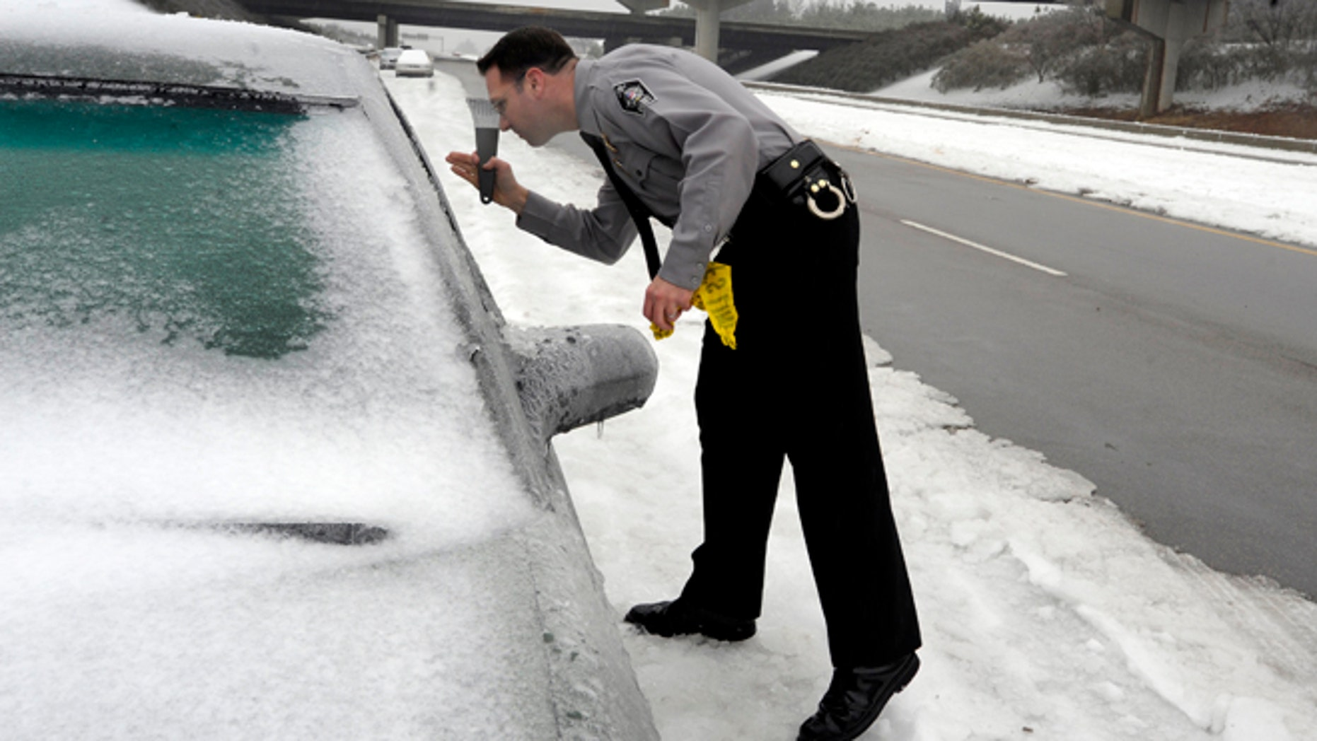A N.C. Sheriff's Deputy on February 13, 2014 in Raleigh, (Photo by Sara D. Davis/Getty Images)