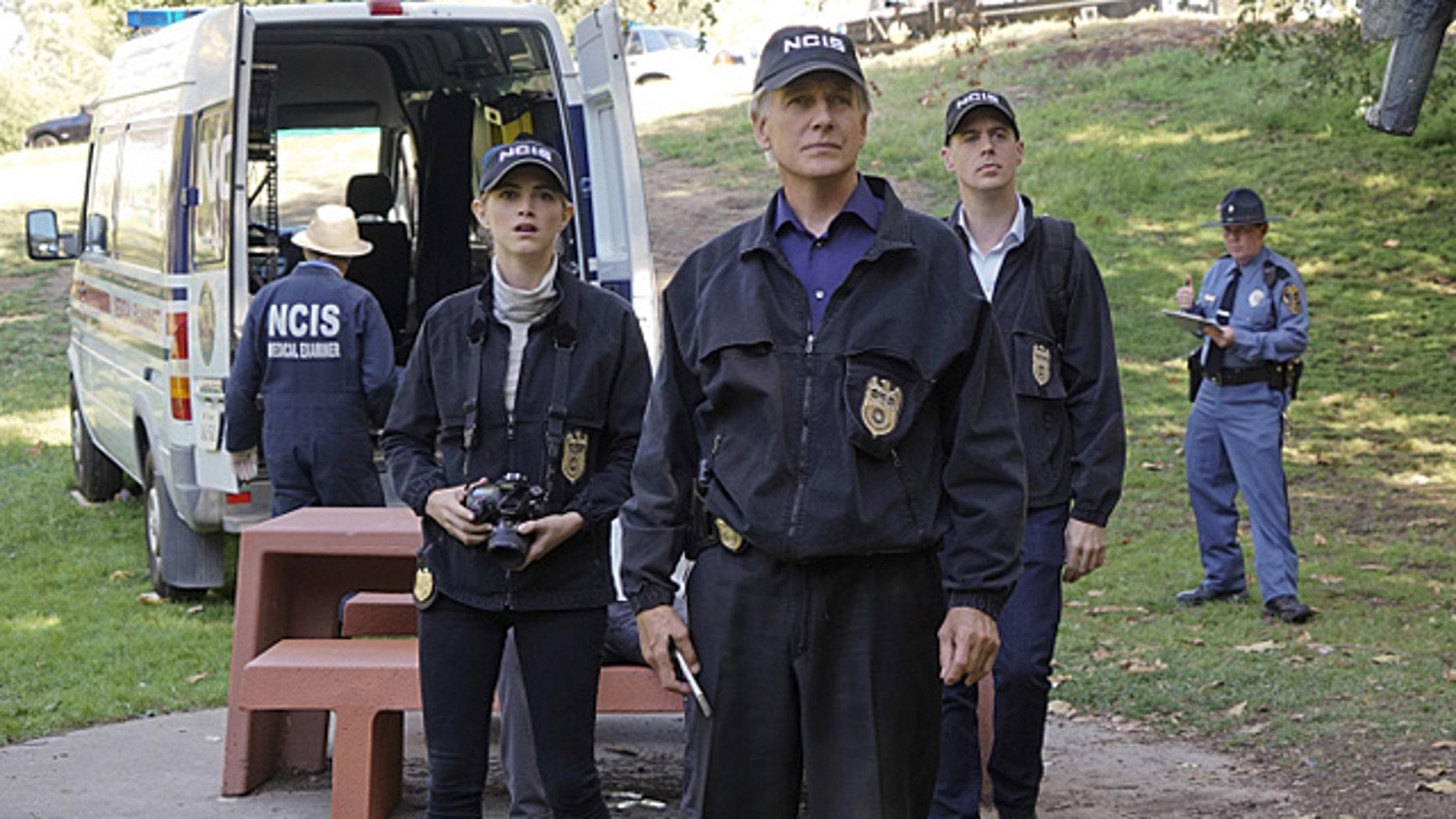 Emily Wickersham, Mark Harmon and Sean Murray on 'NCIS' Photo: (Monty Brinton/CBS)