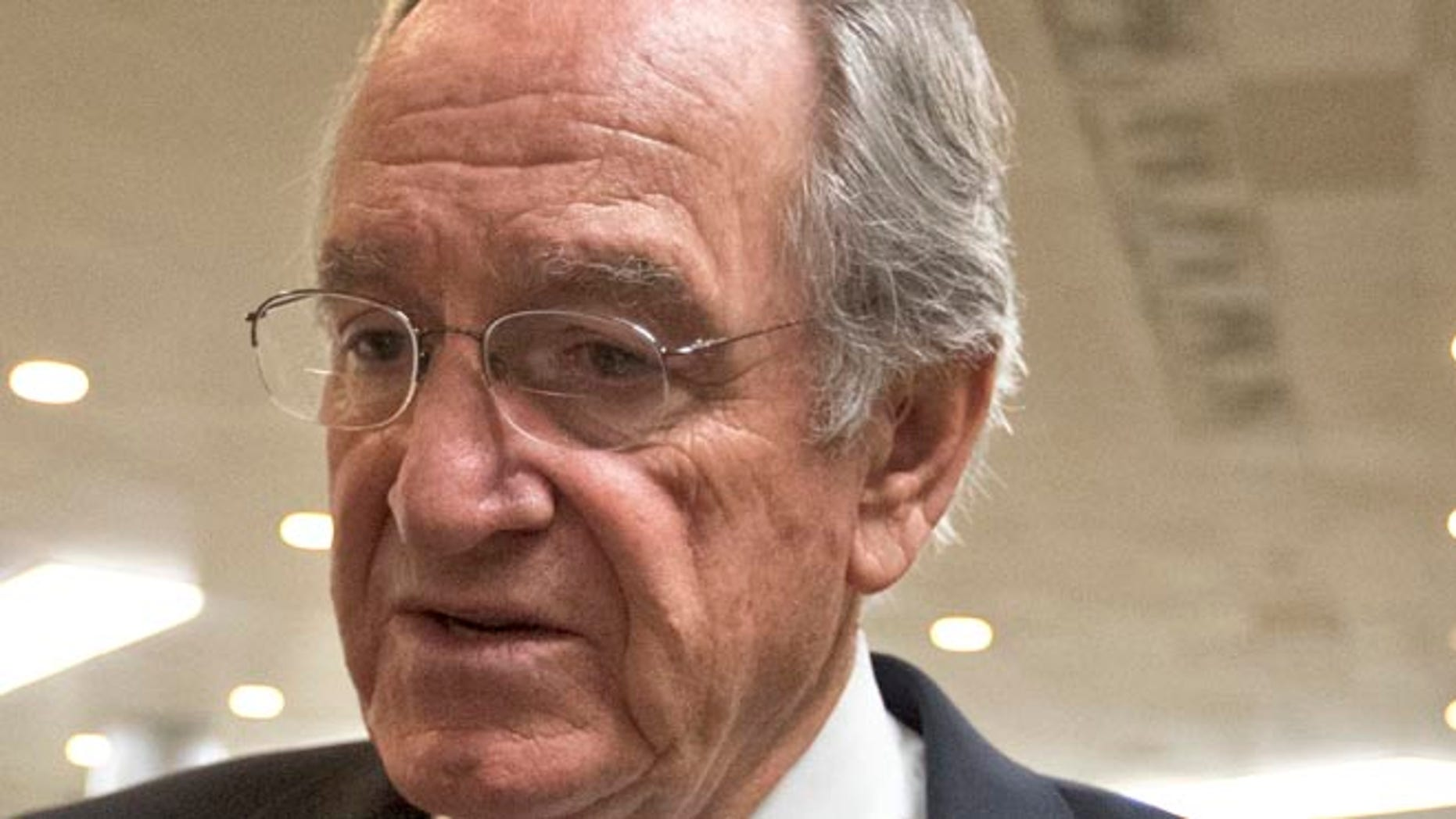 In this March 22, 2013 file photo, Sen. Tom Harkin, D-Iowa speaks to reporters on Capitol Hill in Washington. Senate Democrats are introducing legislation that would replace the one-sized-fits-all national standards of No Child Left Behind with ones that states write for themselves.