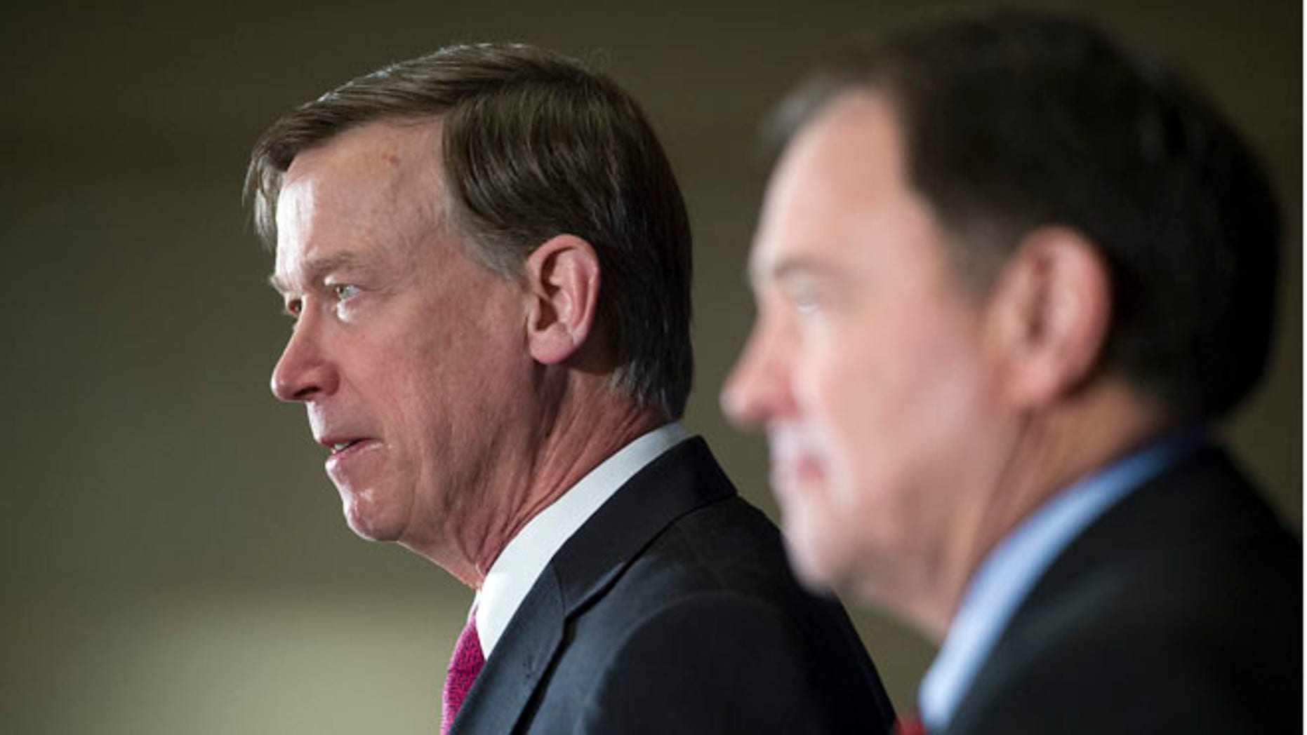 Feb. 21, 2015: National Governors Association Chairman, Colorado Gov. John Hickenlooper, left, and Vice Chair, Utah Gov. Gary Herbert, at the group's Winter Meeting in Washington, D.C.