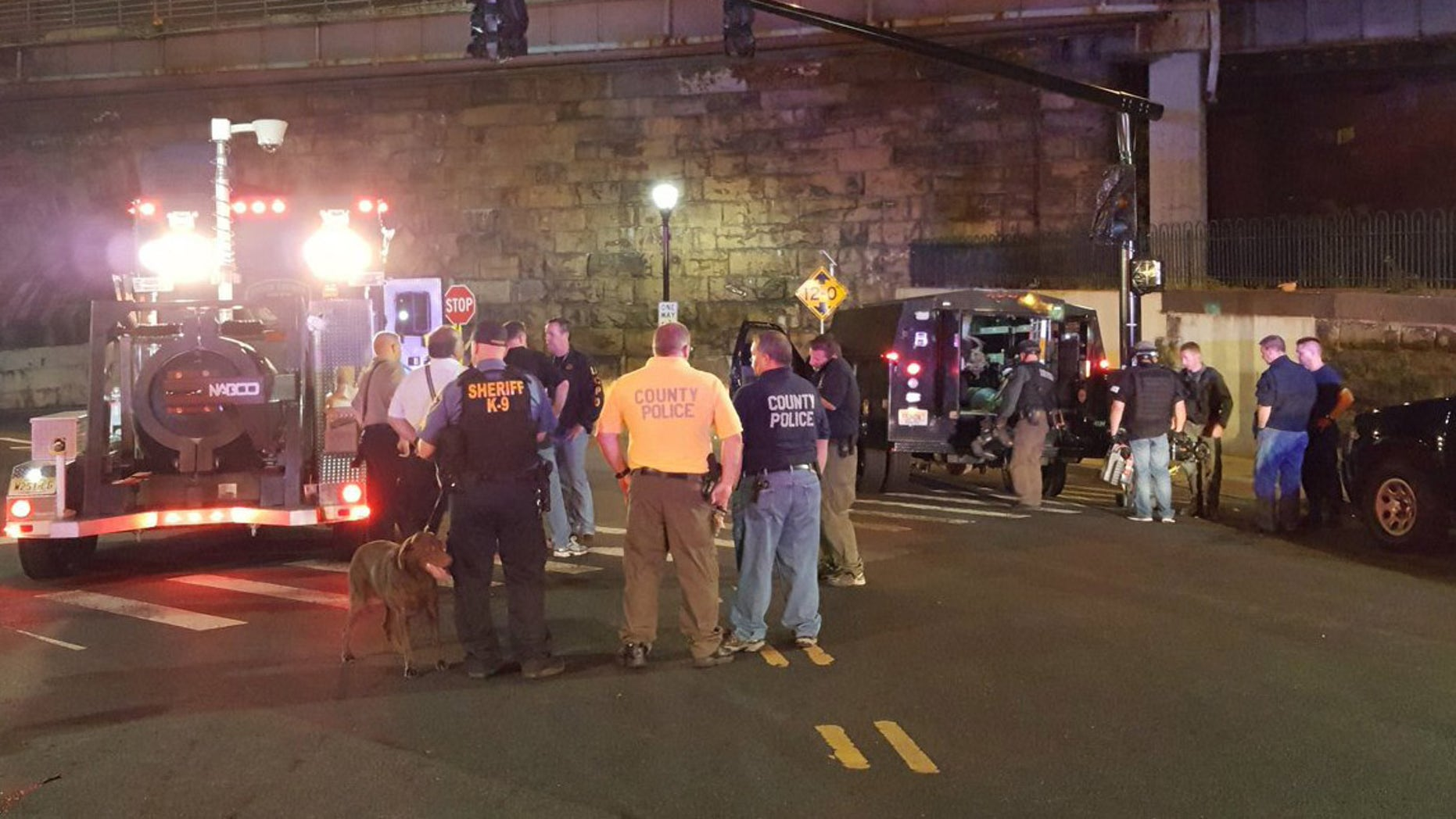FBI Bomb Squad is on scene and continuing the investigation at the train station in Midtown Elizabeth.