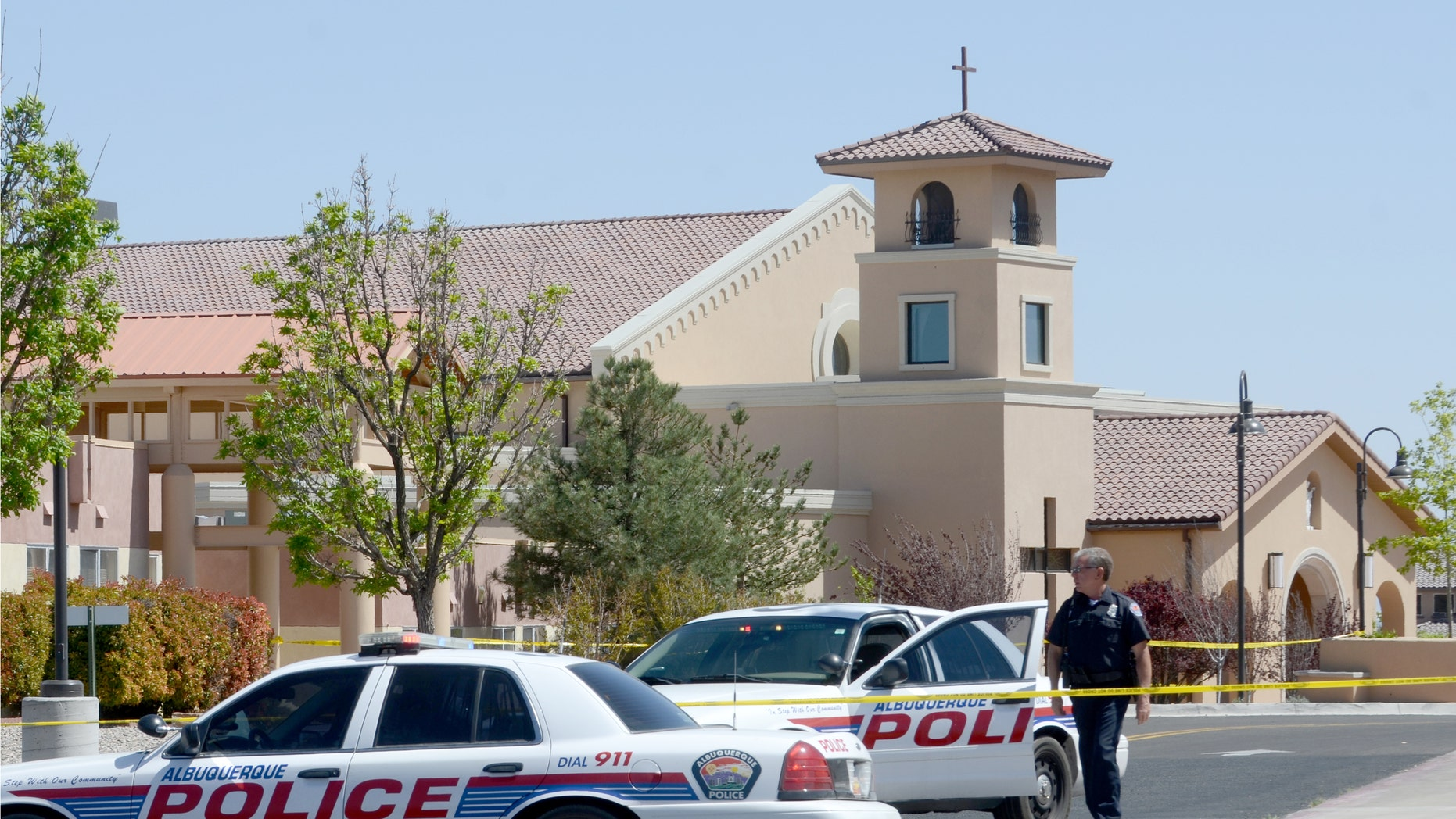 St. Jude Thaddeus Catholic Church, in Albuquerque, N.M., the scene of a multiple stabbing on Sunday, April 28, 2013.