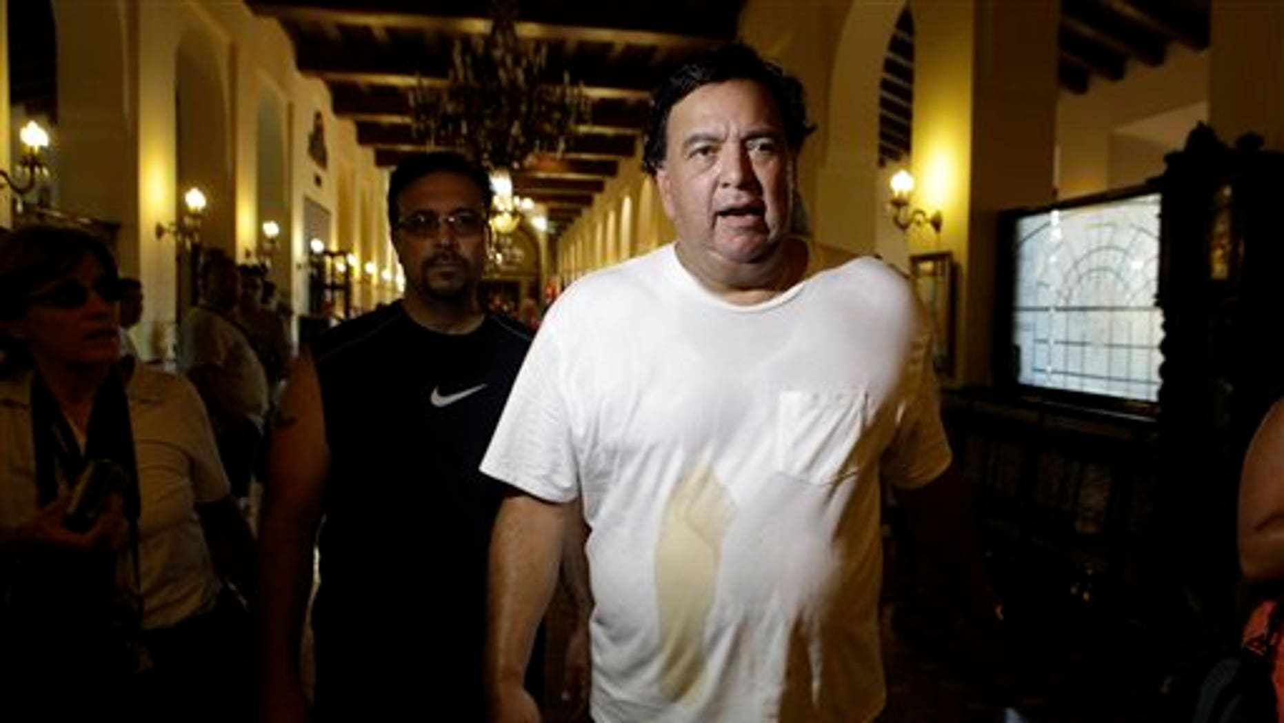 September 8: Former New Mexico Gov. Bill Richardson walks through the National Hotel after a morning work out in Havana, Cuba