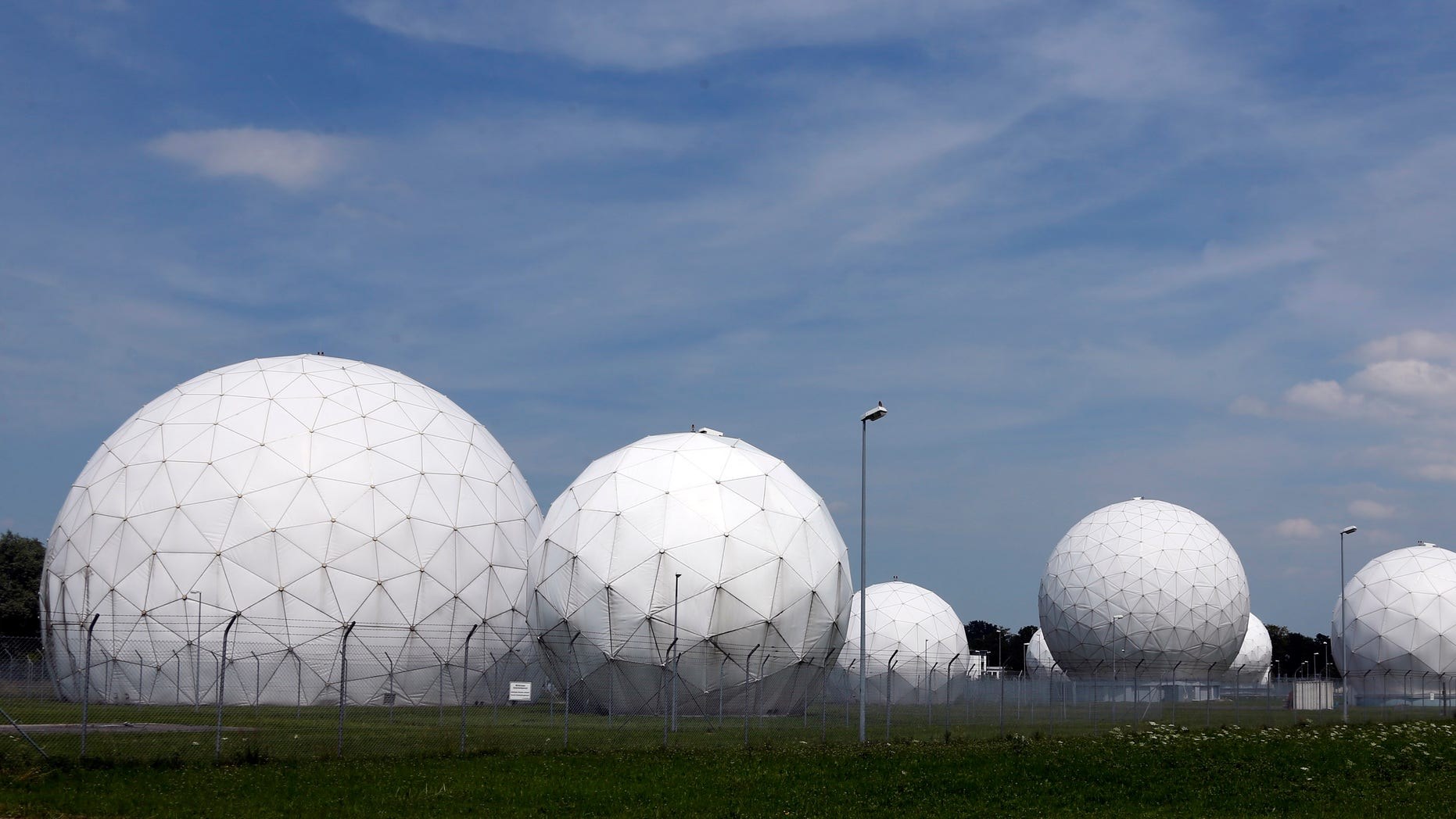 July 8, 2013 - FILE photo of the former monitoring base of the U.S. intelligence organization National Security Agency (NSA) in Bad Aibling, near Munich, southern Germany, that was closed in 2004.  The German government has canceled a Cold War-era surveillance pact with the US and Britain following concerns about their alleged electronic eavesdropping in Germany.