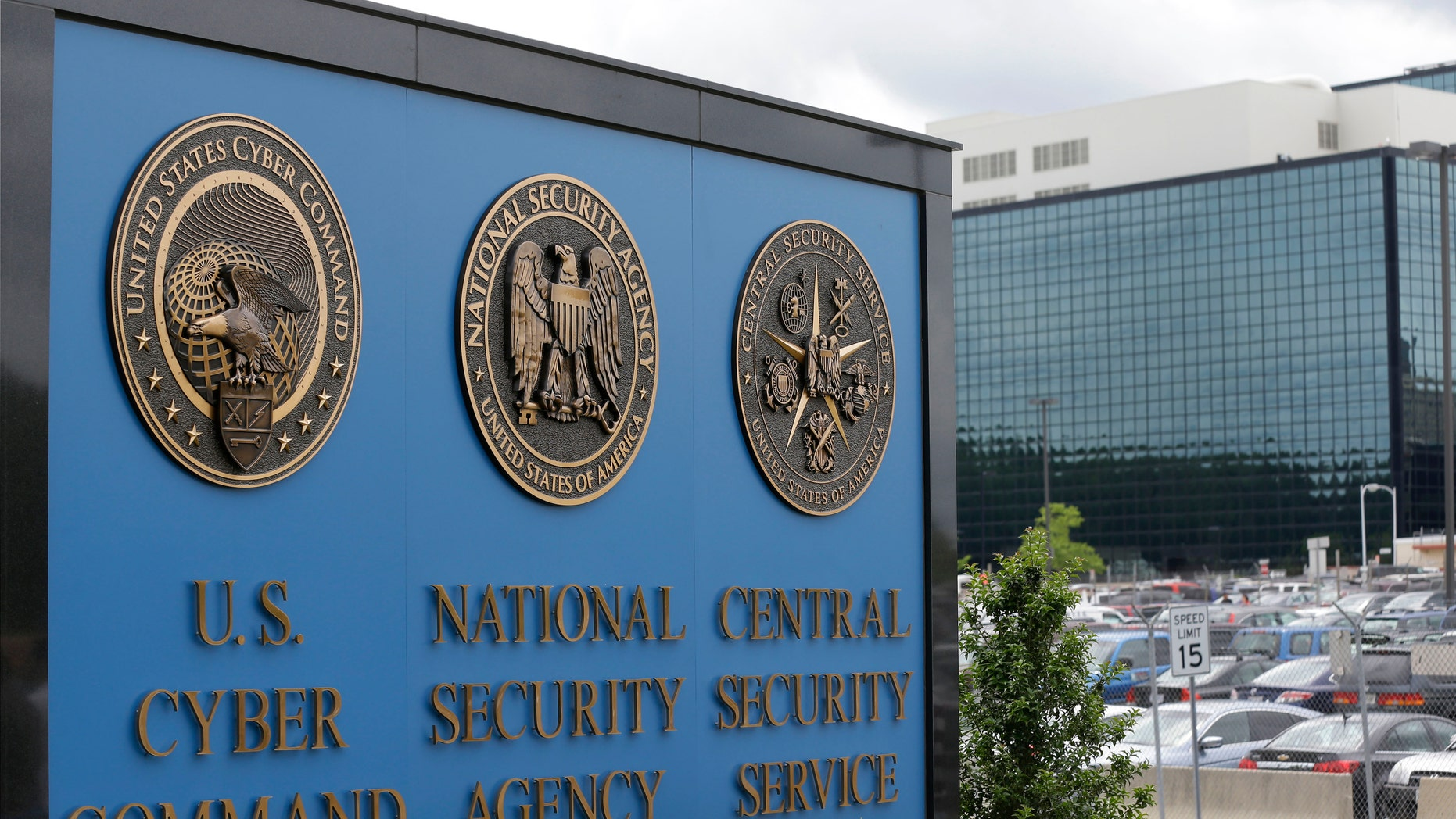 This June 6, 213 file photo shows the sign outside the National Security Agency (NSA) campus in Fort Meade, Md. (AP Photo/Patrick Semansky, File)