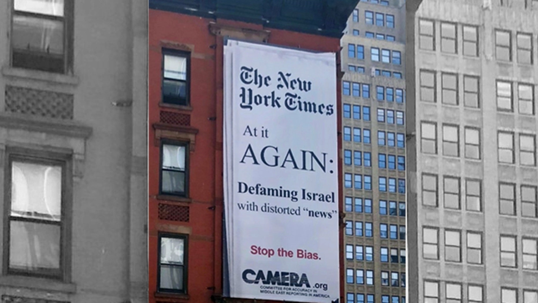Media group CAMERA slams The New York Times for biased coverage against Israel.