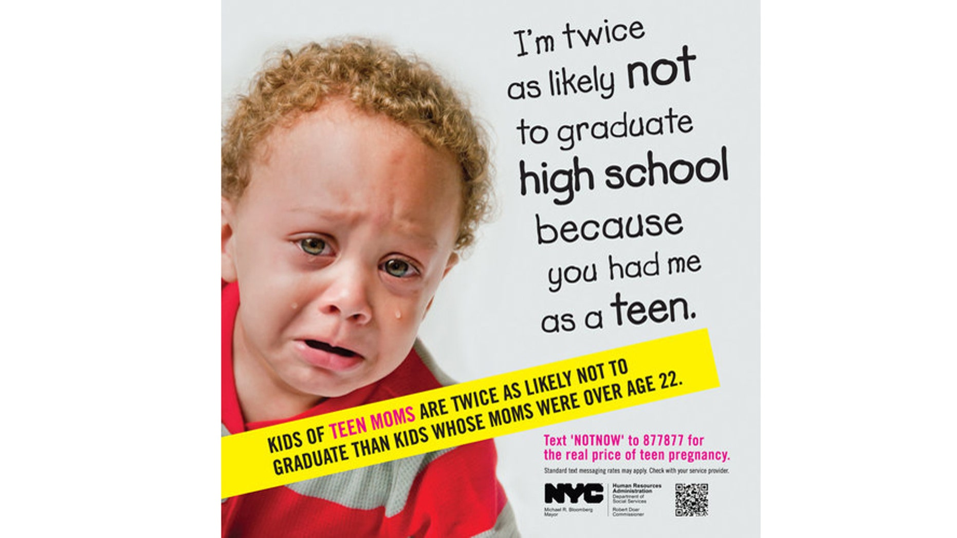 The new teen pregnancy prevention ads by the New York City Human Resources Administration are causing a stir.
