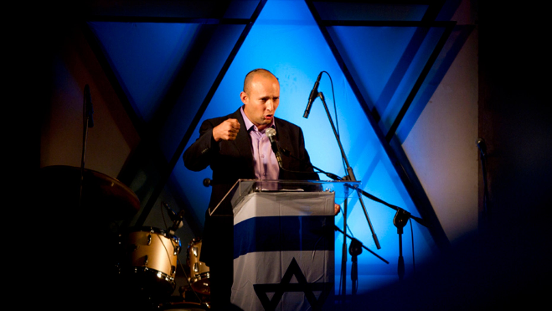 Dec. 26: Naftali Bennett, head of the Jewish Home party, speaks in Ashdod.