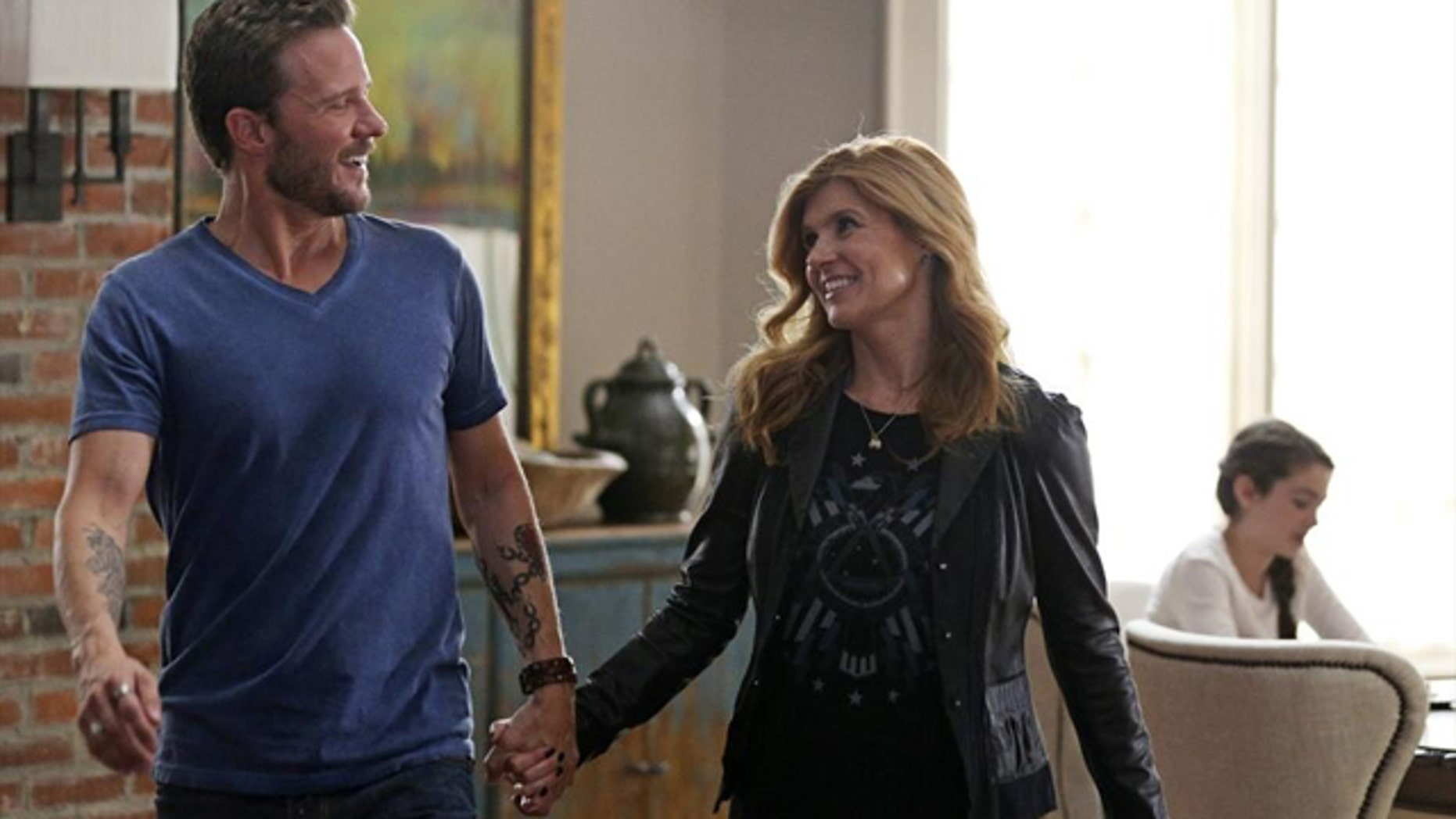 NASHVILLE - The effort by Rayna James (Connie Britton) to raise Highway 65's sales and profile finds her performing her latest single on 'Dancing with the Stars' But when she agrees to be shadowed by a reporter all weekend for the cover of a magazine, just as Luke (Will Chase) hopes to rekindle the romance, she realizes she may have pushed her public access too far. (ABC/Mark Levine)
