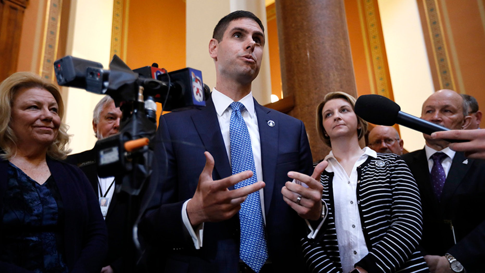 Three women told The Des Moines Register in a story published online Wednesday, May 23, 2018 that owa Democratic gubernatorial candidate Sen. Nate Boulton touched them inappropriately during separate incidents.