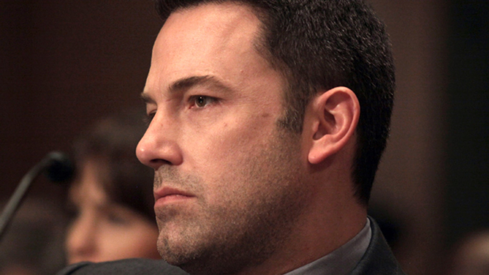 March 26, 2015: Actor Ben Affleck is seen on Capitol Hill in Washington after testifying before the Senate State, Foreign Operations, and Related Programs subcommittee hearing on diplomacy, development and national security. (AP Photo/Lauren Victoria Burke)