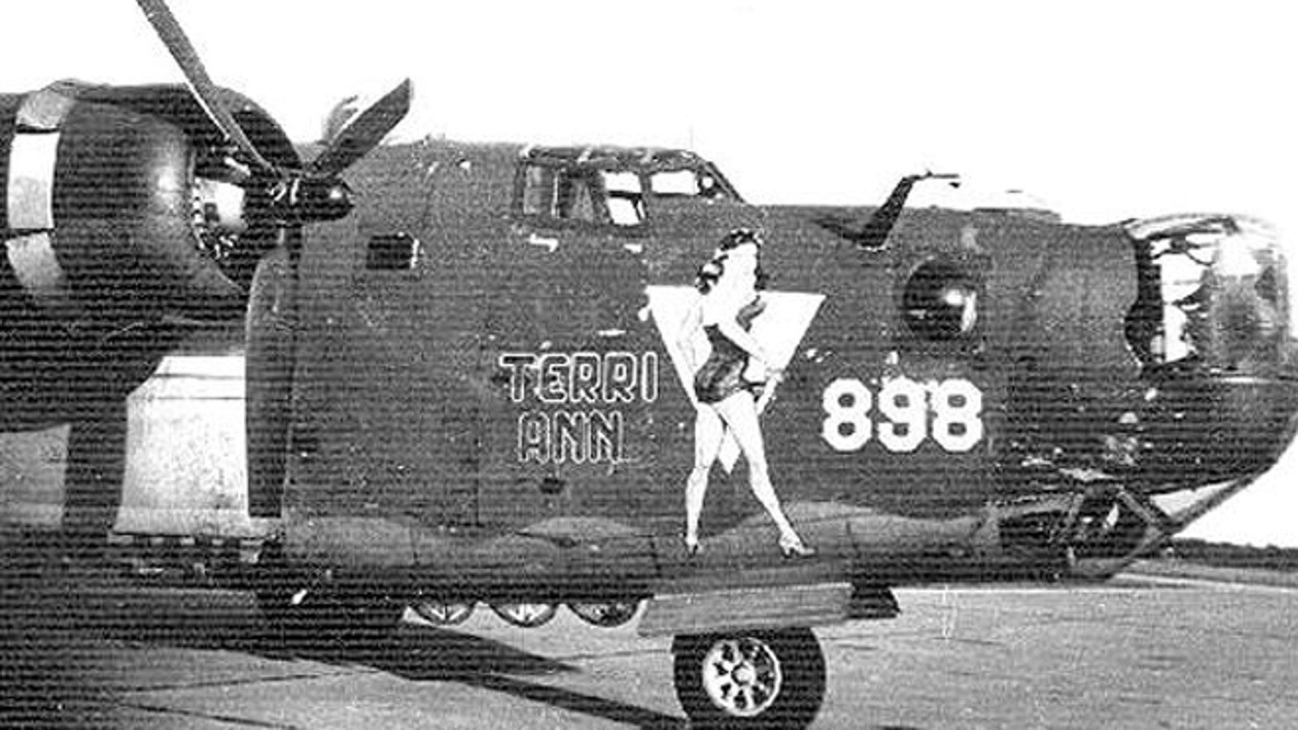 A B-24 used by the 489th Bomb Group during World War II.